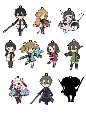 Sword Art Online Movie - Rubber Straps Trading Figures