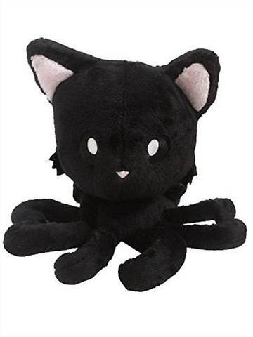 "Tentacle Kitty (Midnight Black) 8"" Plush Doll"