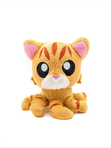 "Tentacle Kitty Little One (Orange Tabby) 4"" Plush Doll"
