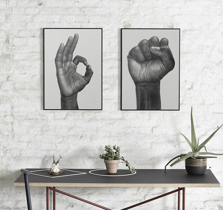 Raised Fist-Børge Bredenbekk-Paper Collective-50x70cm-Average