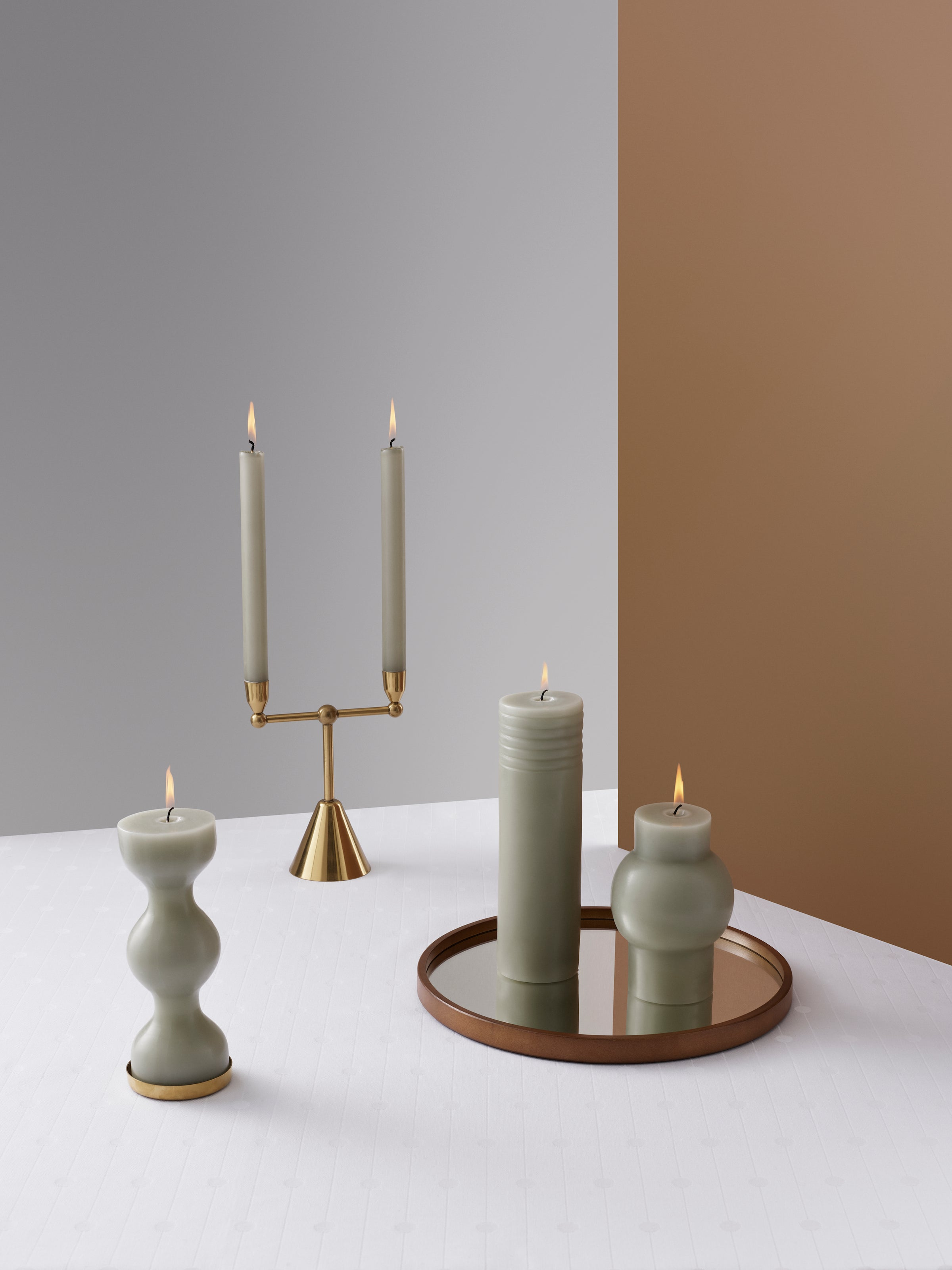 Phare Block Candle-Tivoli-Normann Copenhagen-Antique Celadon-Average