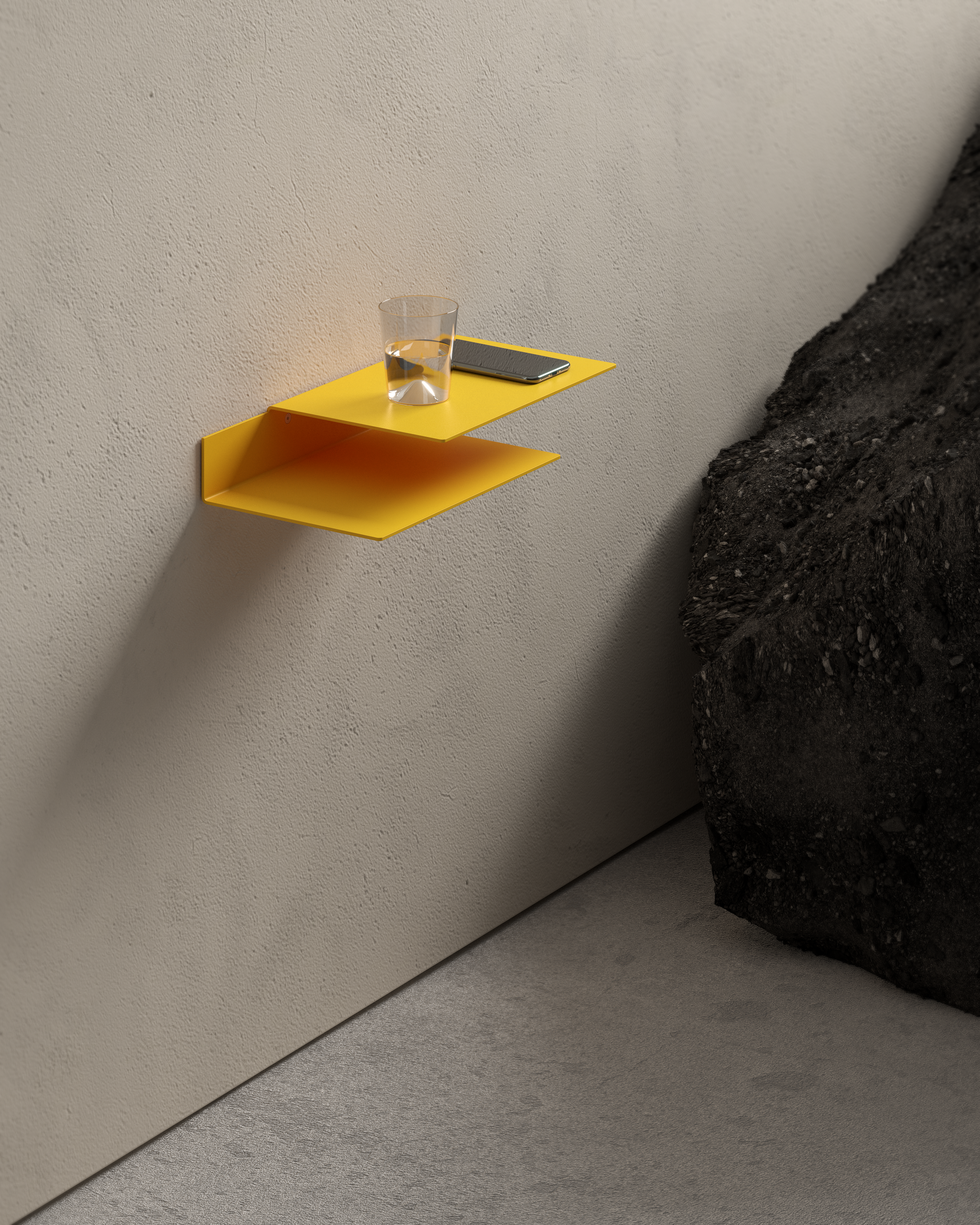 Float Shelf — Yellow