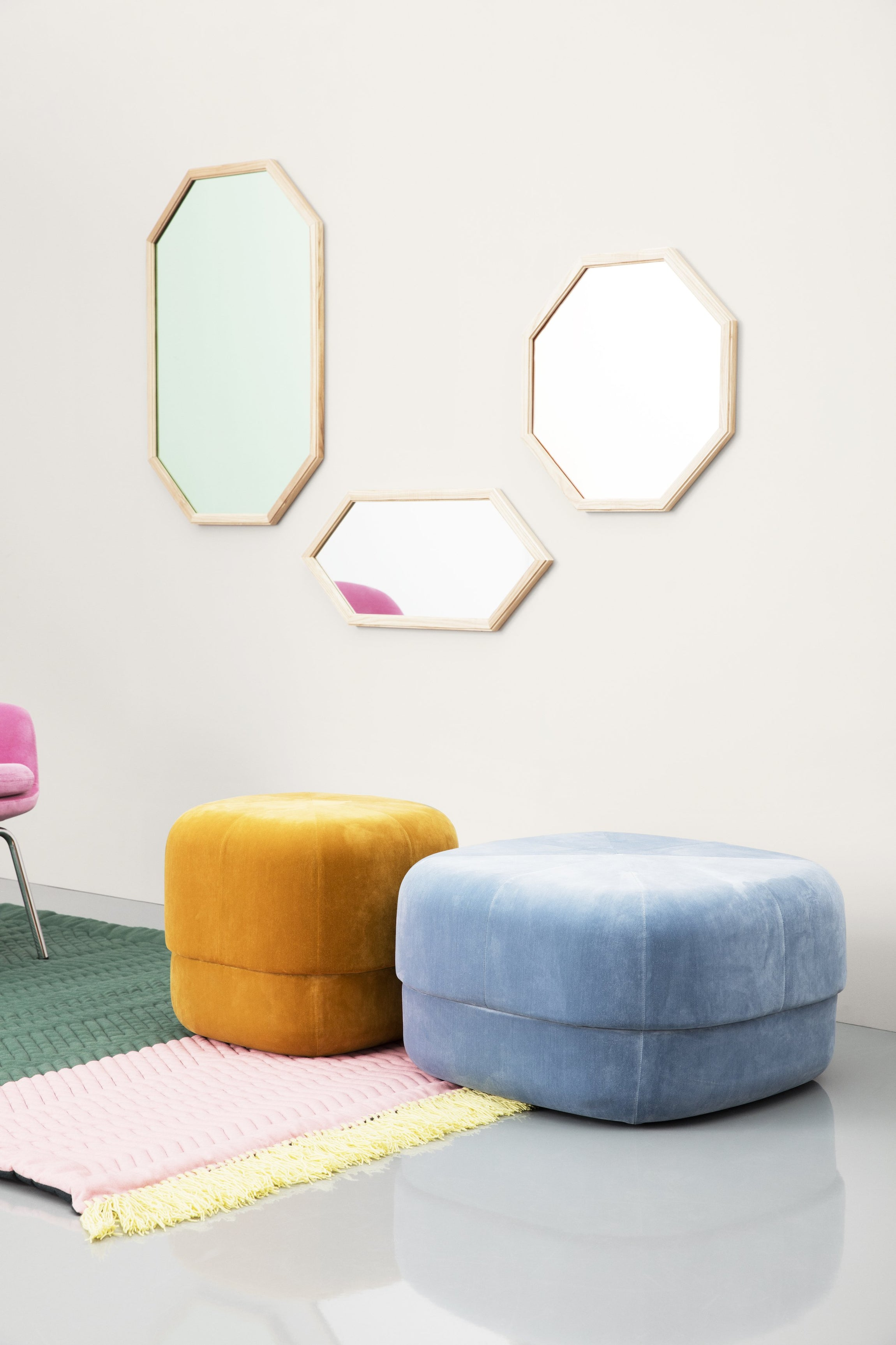 Circus Pouf — Small-Simon Legald-Normann Copenhagen-Blush-Average