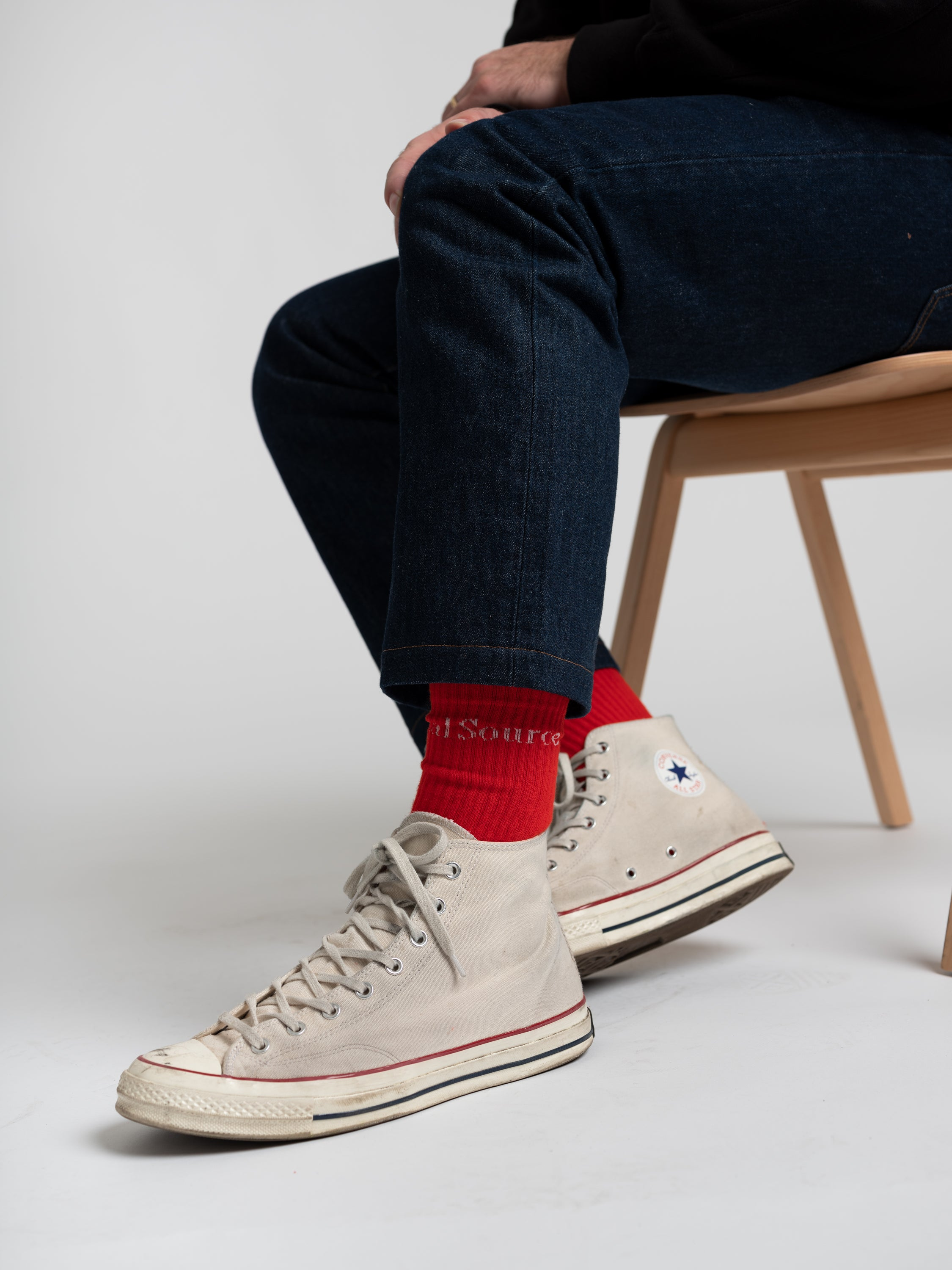 Socks — Red-Actual Source-Average