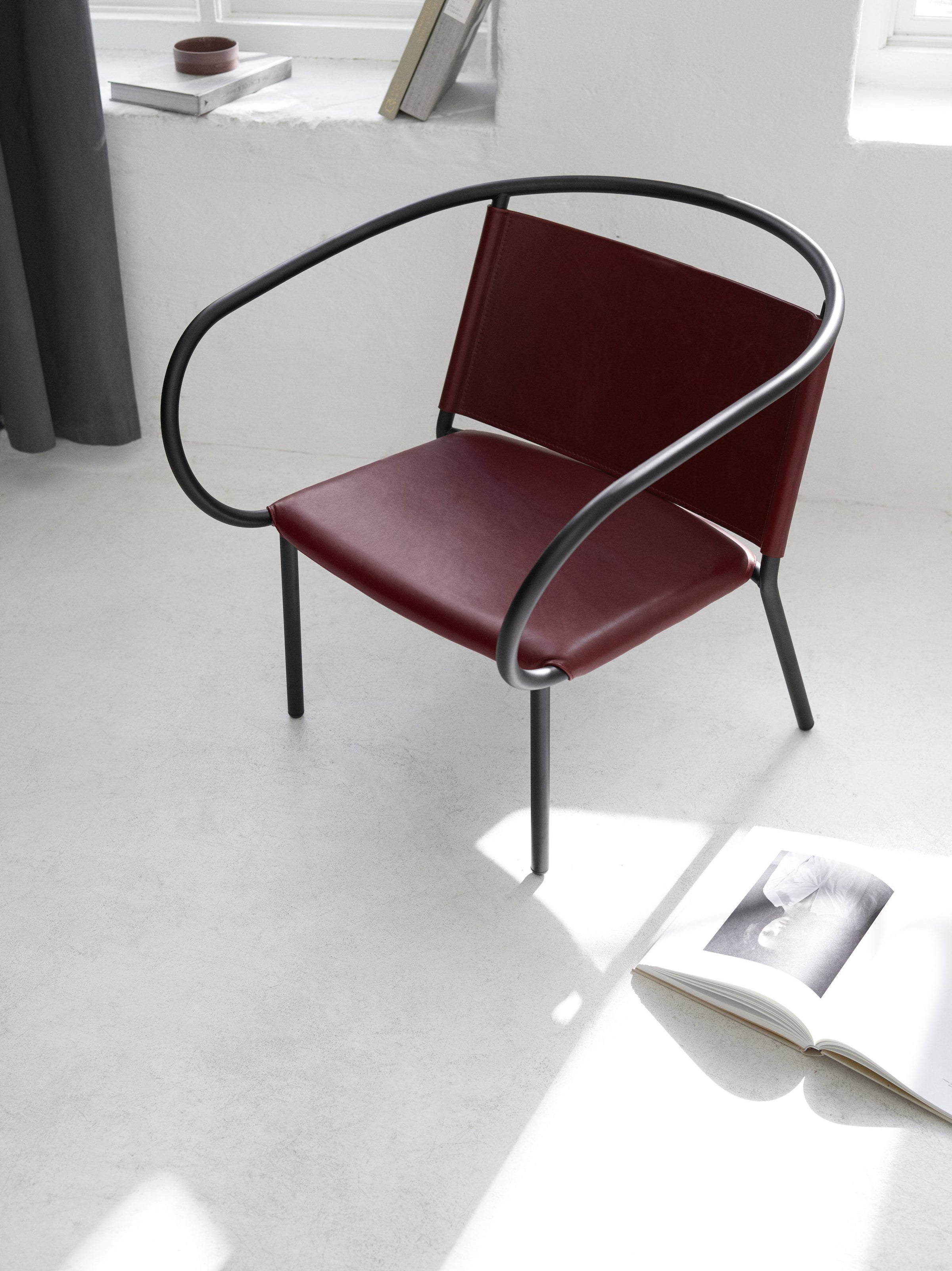 Afteroom Lounge Chair-Afteroom-Menu-Red Leather-danish-interior-furniture-denmark-Average-design-toronto-canada