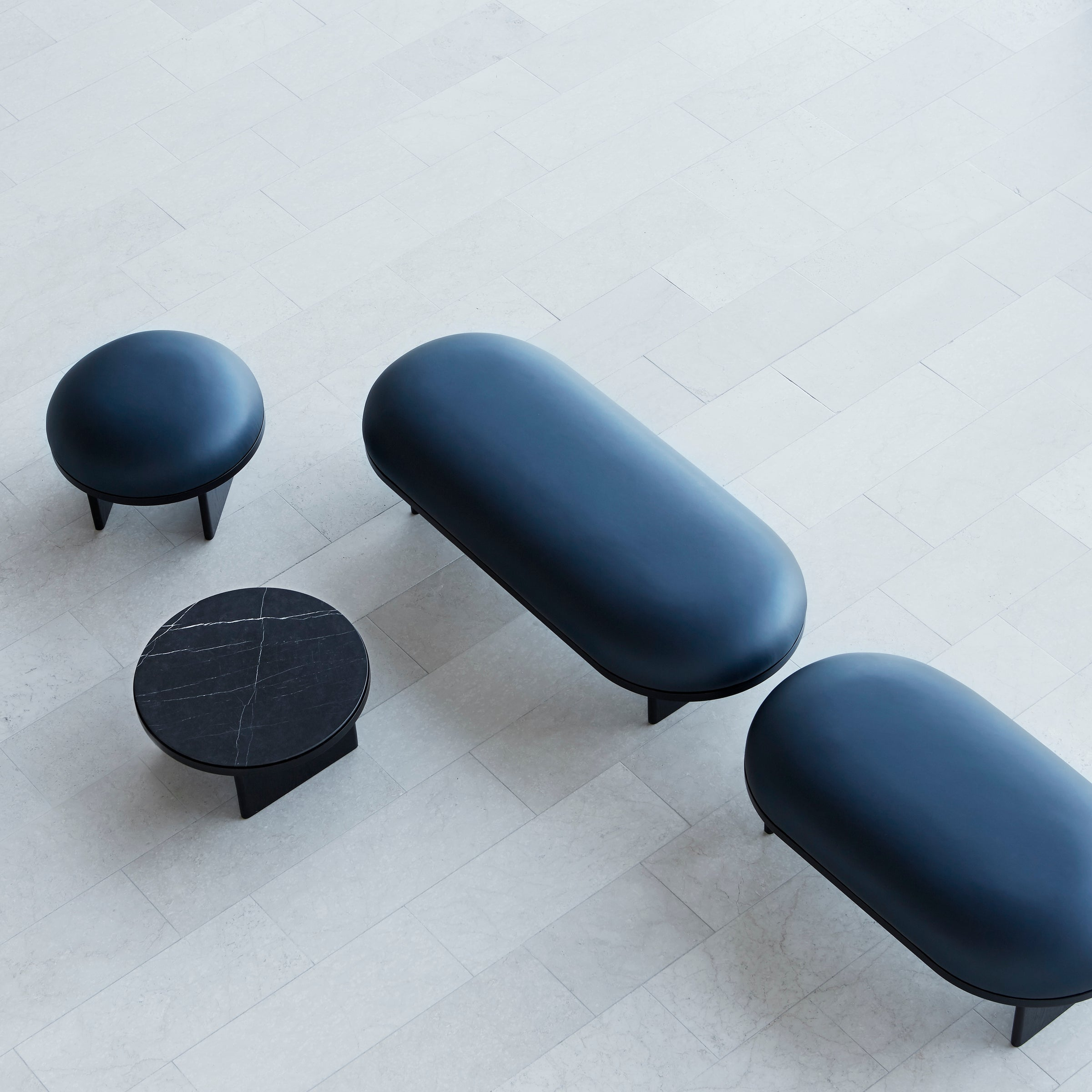 Anza Coffee Table — Black Marble