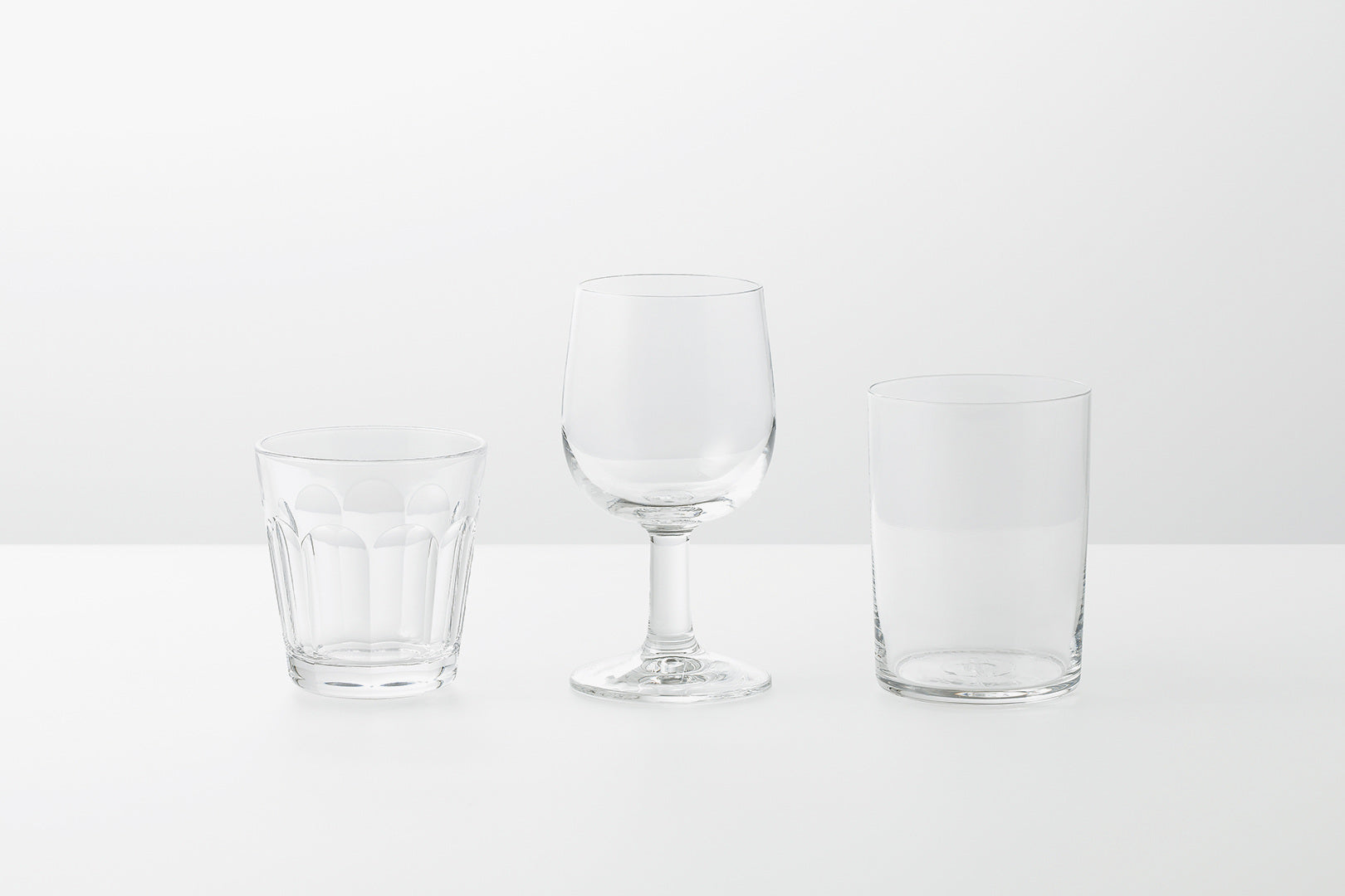 Glass Tumbler — Clear Yota Kakuda Common Japanese glassware Average Toronto Canada Design Store