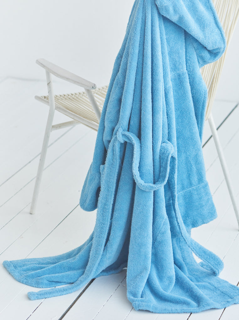 tekla robe bathrobe blue toronto canada average fabrics textiles danish
