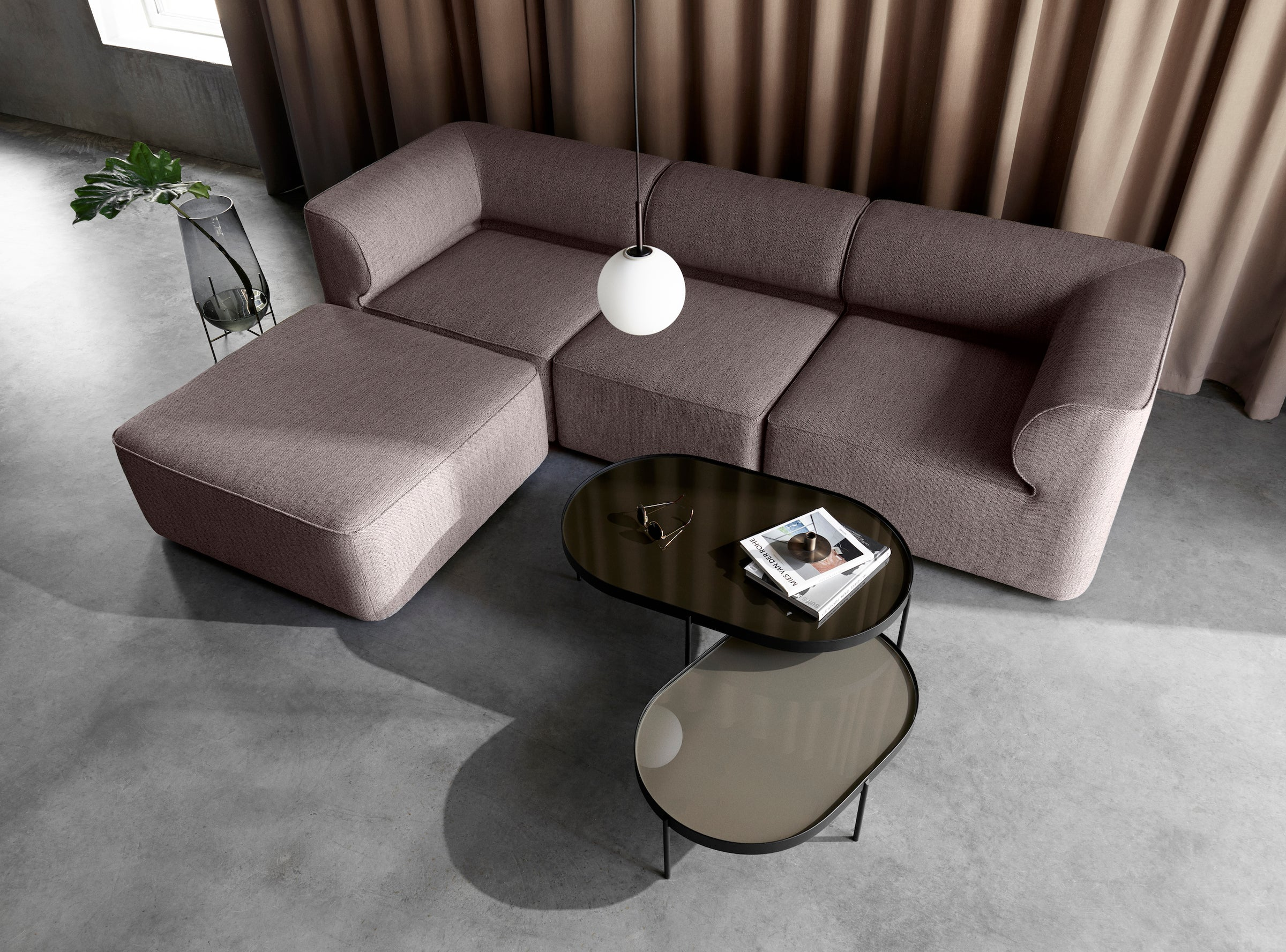 NoNo Coffee Table-Norm Architects-Menu-Small Beige Glass-Average