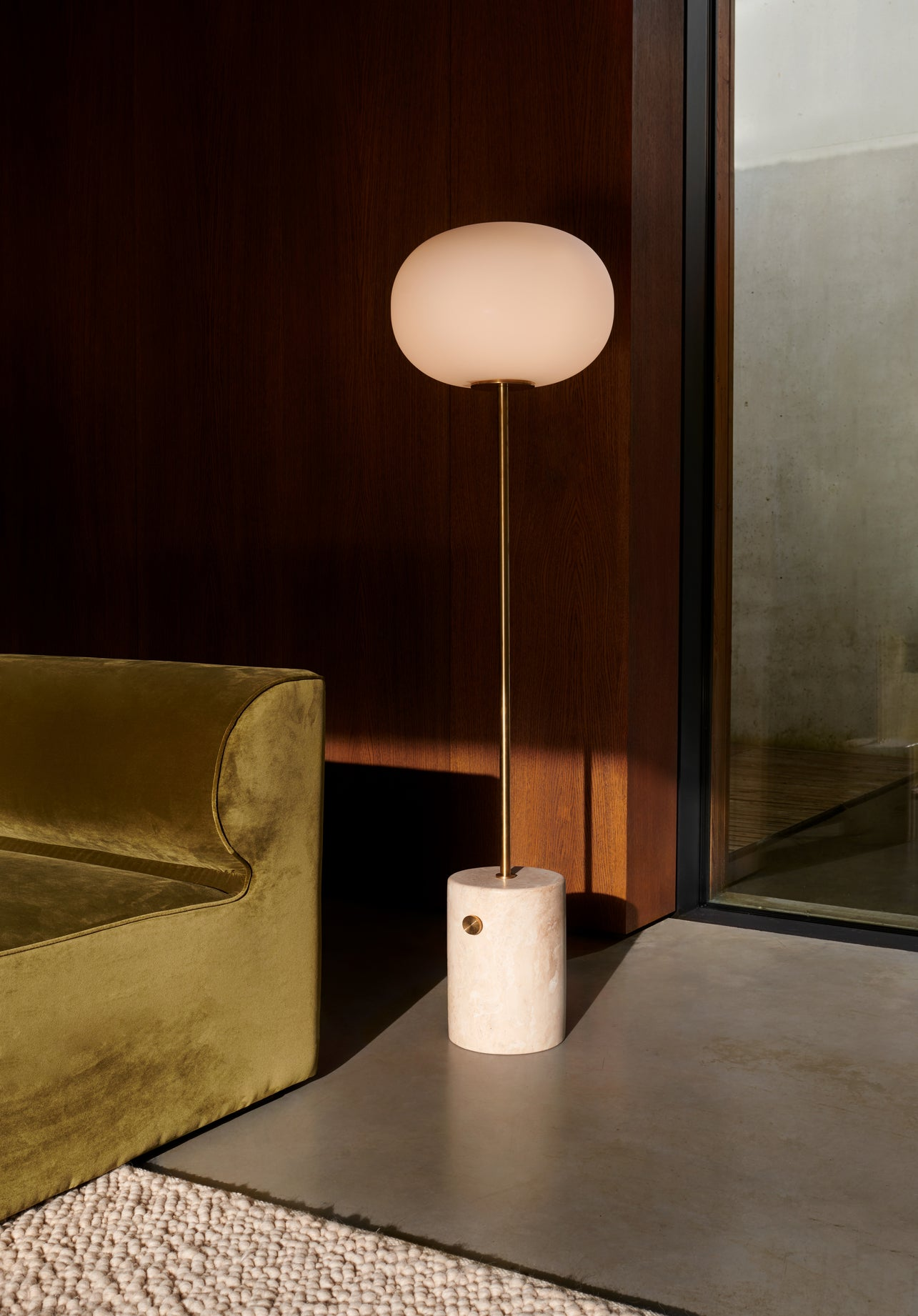 JWDA Floor Lamp — Travertine
