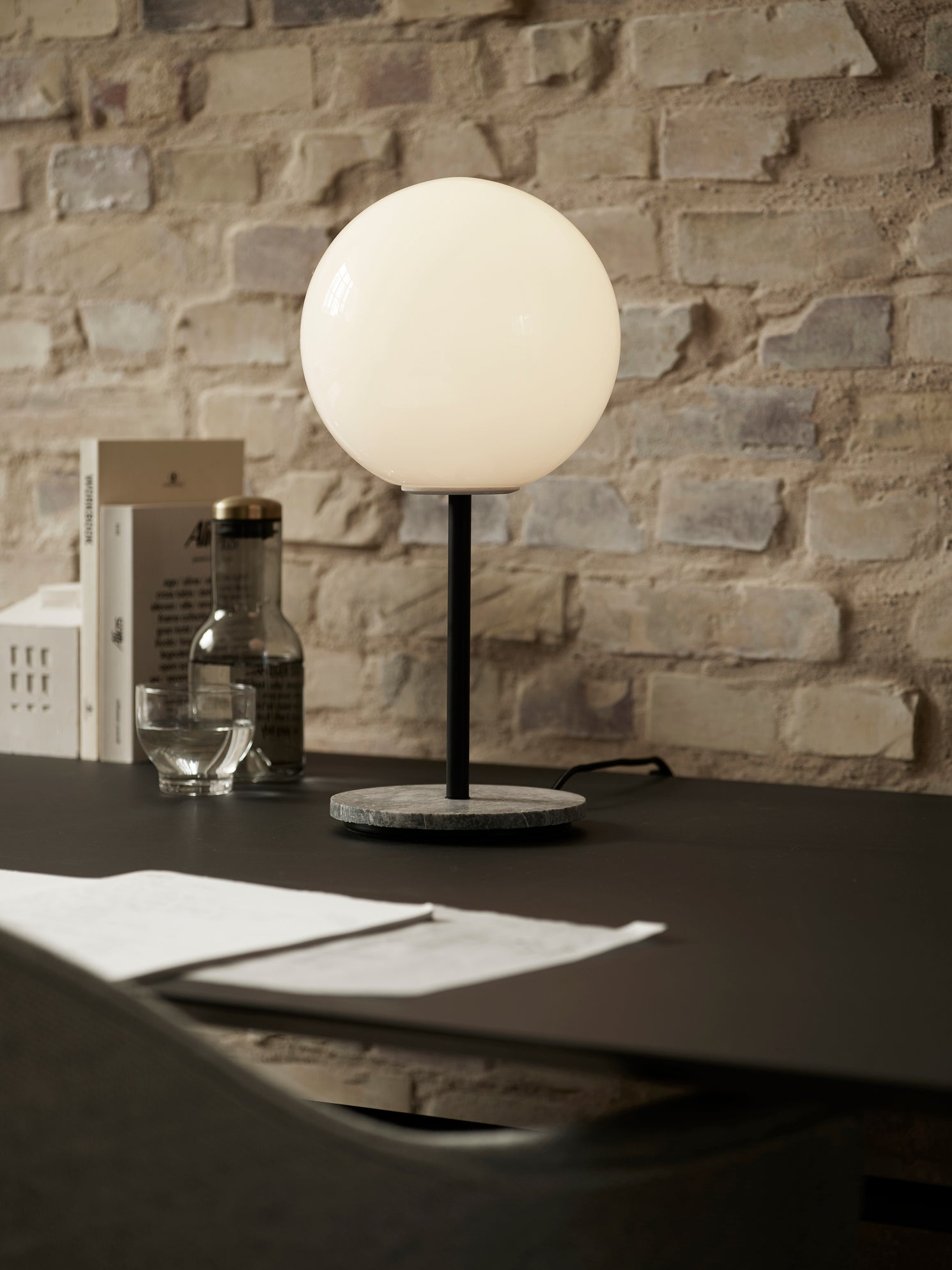 TR Table Lamp-Tim Rundle-Menu-Marble-Matte-Average