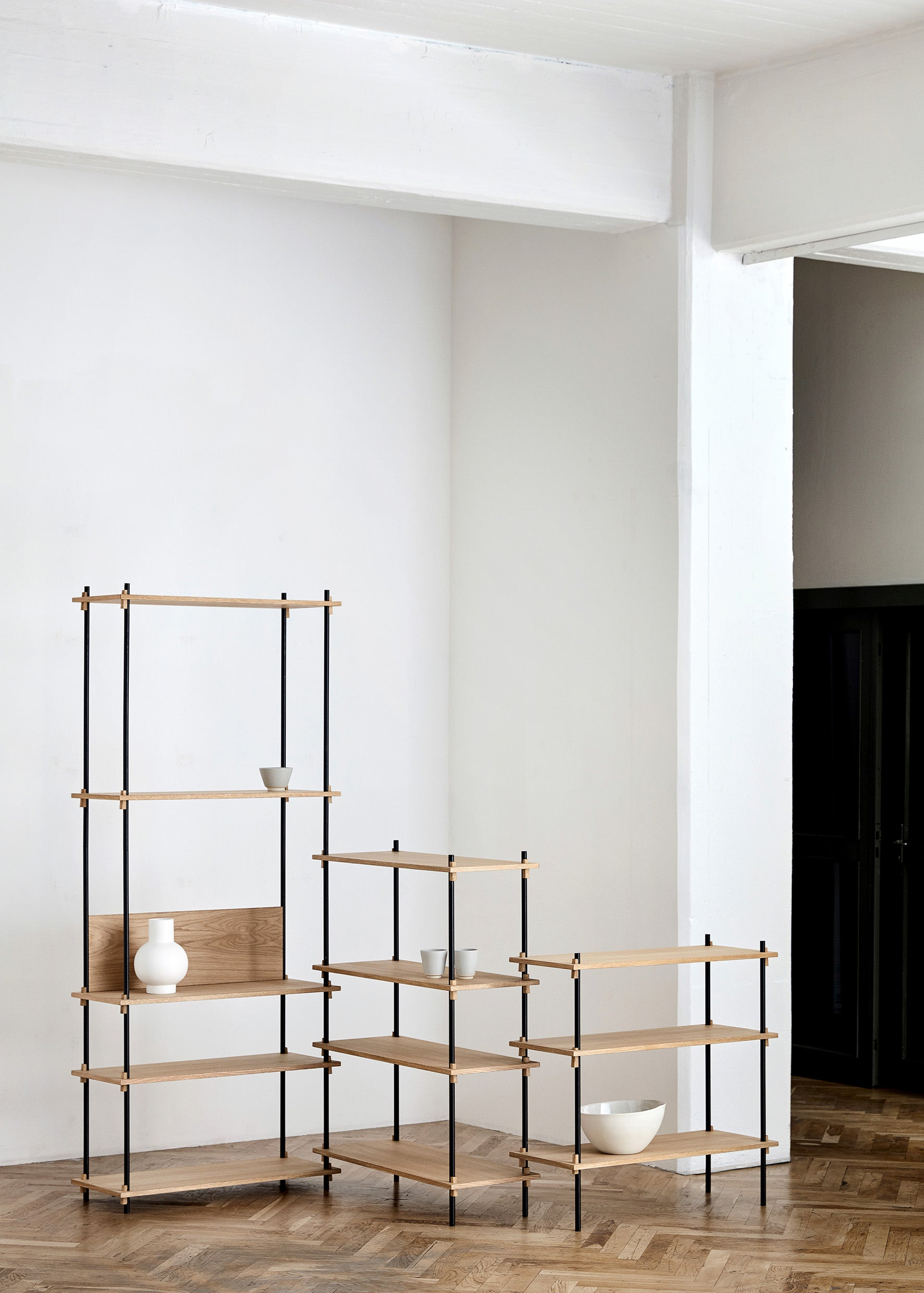 Shelving System — Medium-Moebe-Single Bay-Oiled Oak-danish-interior-furniture-denmark-Average-design-toronto-canada