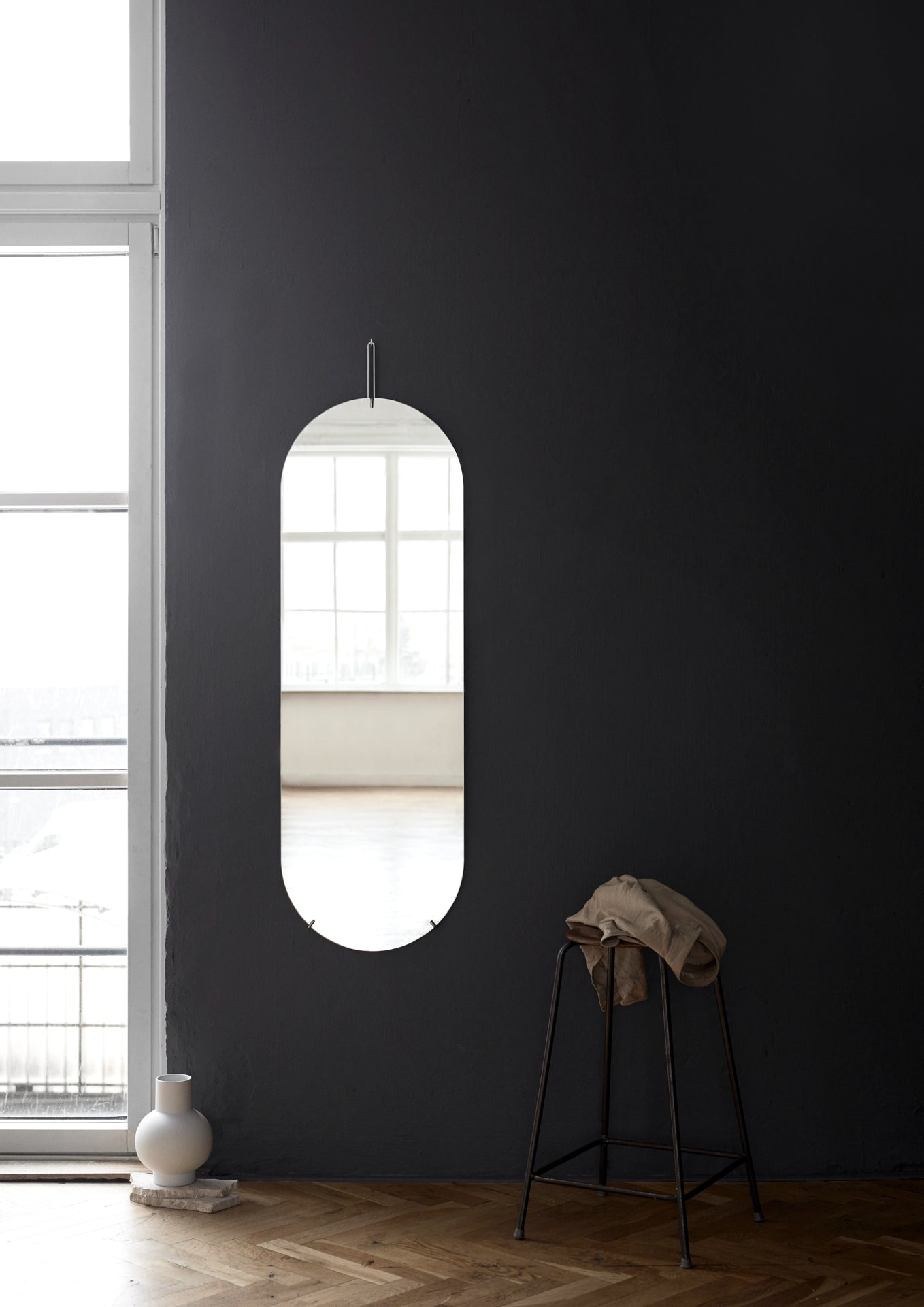 Tall Wall Mirror-Moebe-black-danish-interior-furniture-denmark-Average-design-toronto-canada