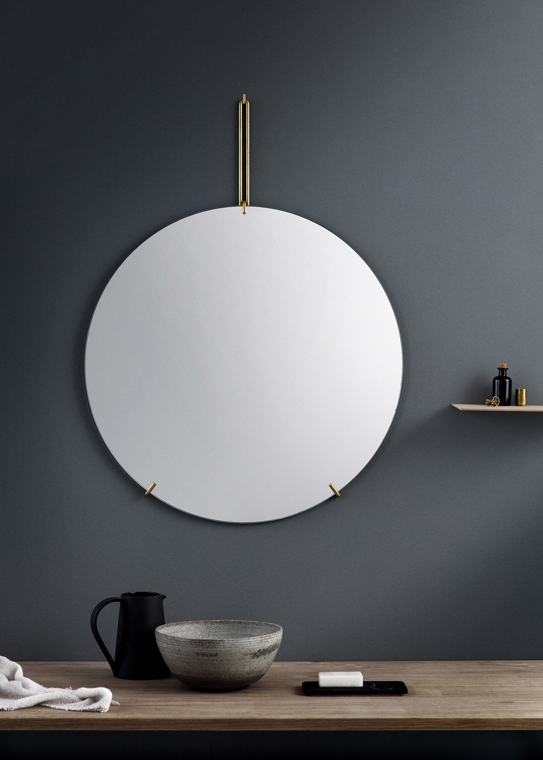 Wall Mirror — 70cm-Moebe-black-Average