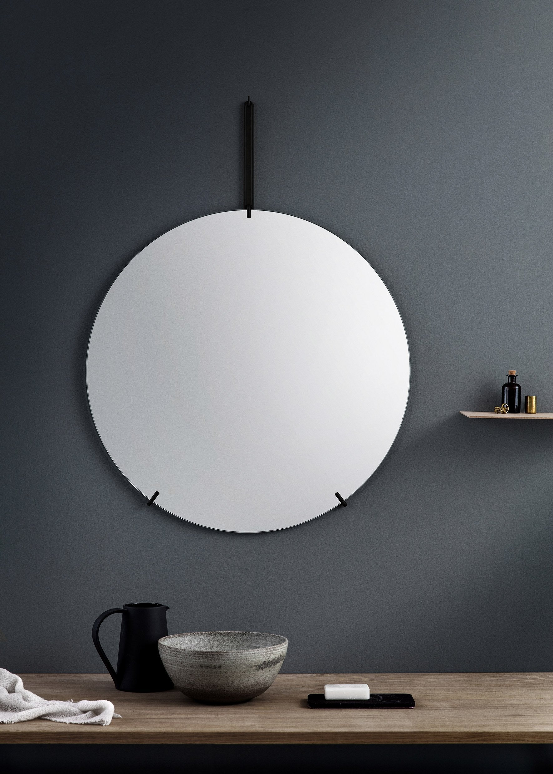 Wall Mirror — 70cm-Moebe-black-danish-interior-furniture-denmark-Average-design-toronto-canada