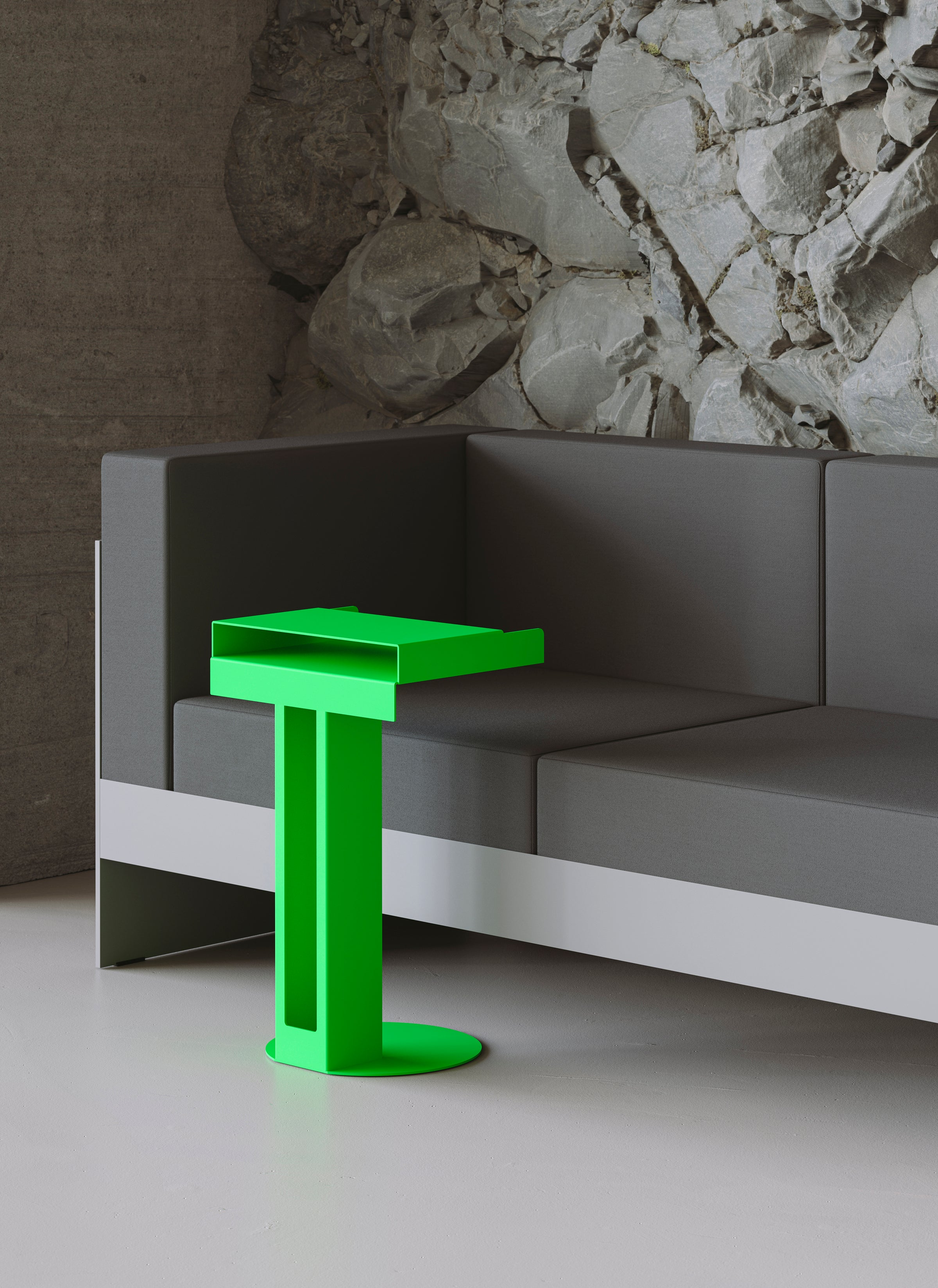 Meta Side Table — Luminous Orange