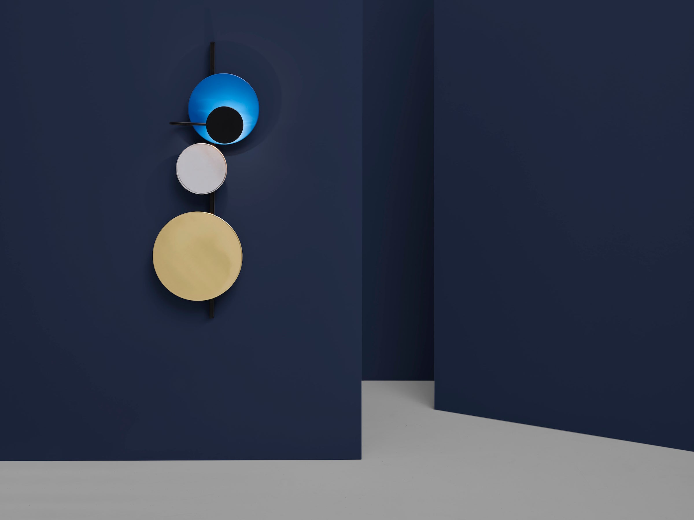 Planet Lamp-Mette Schelde-Please Wait to be Seated-Electric Blue-Average