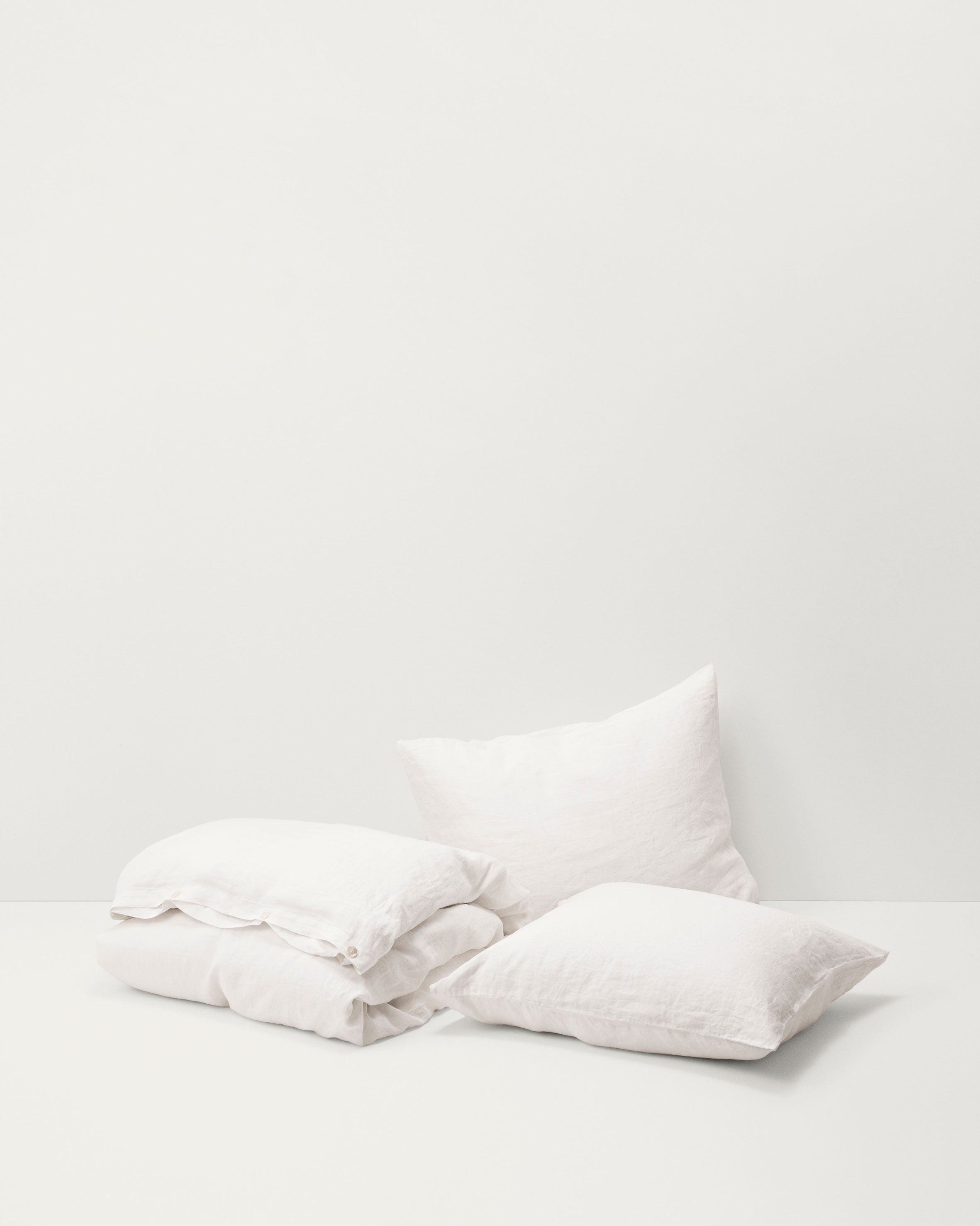 Linen Pillow Sham — Creme White-Tekla-Average