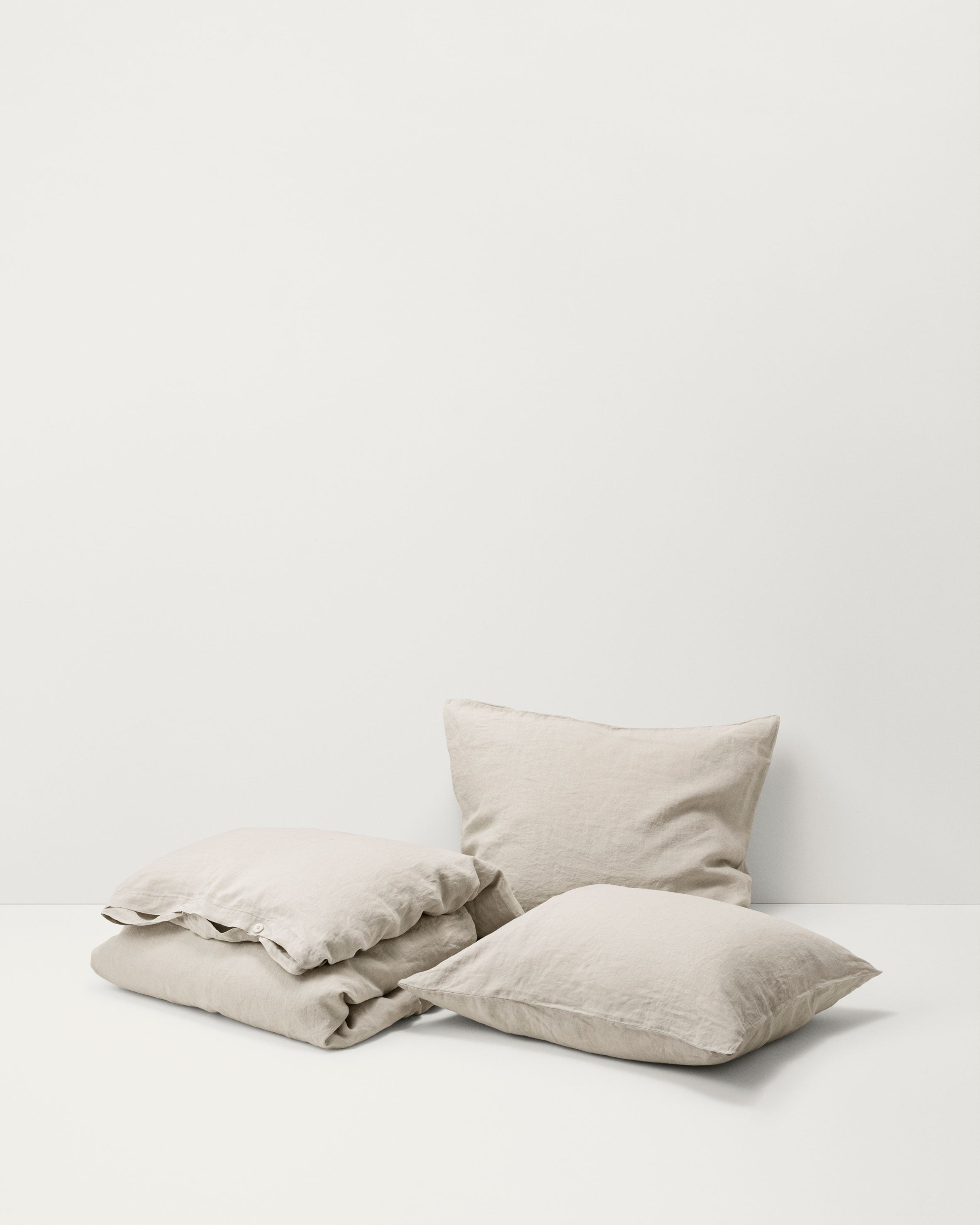 Linen Pillow Sham — Sand Grey-Tekla-Average