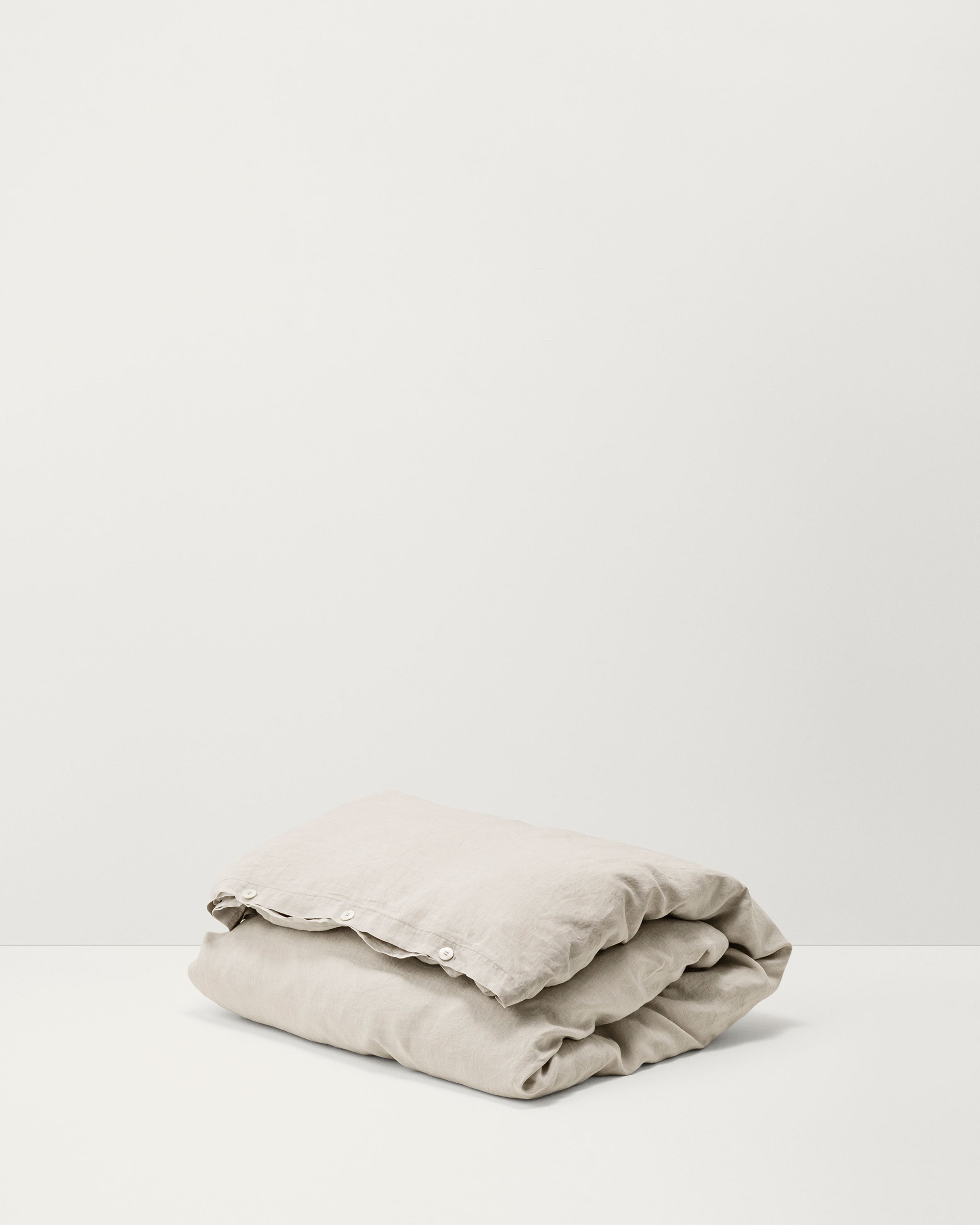 Linen Duvet Cover — Sand Grey-Tekla-Average