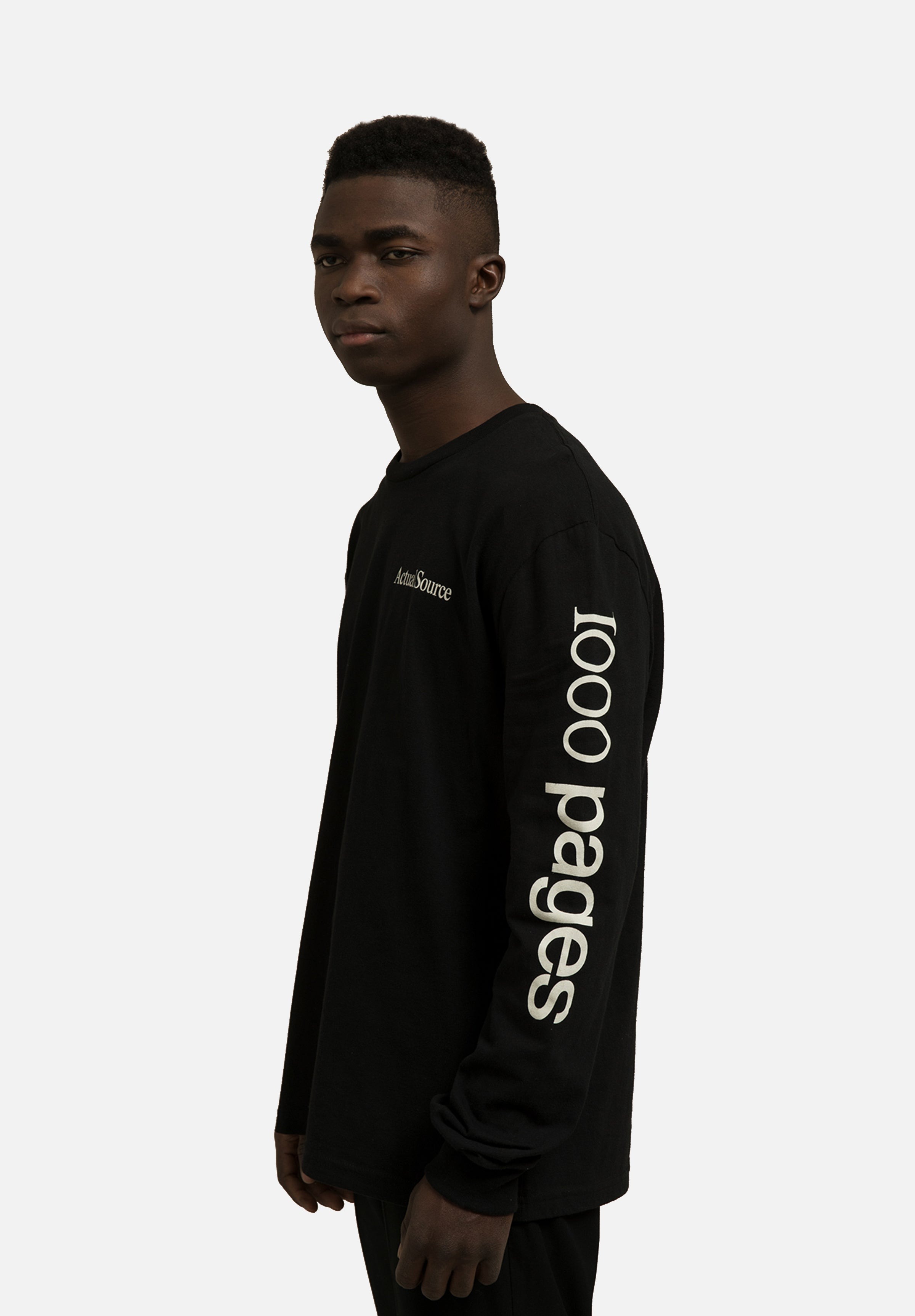 1000 Pages Long Sleeve Actual Source Actual Source Graphic Design Clothing Average Toronto Canada Design Store