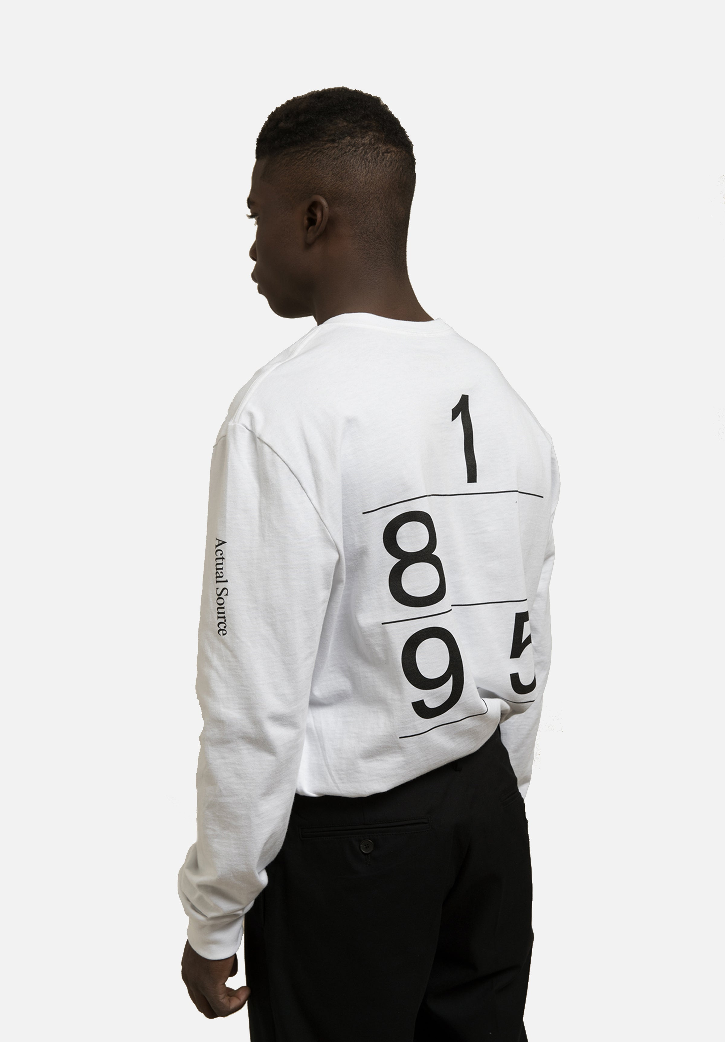 Call Now Long Sleeve - Black Actual Source Graphic Design Clothing Average Toronto Canada Design Store
