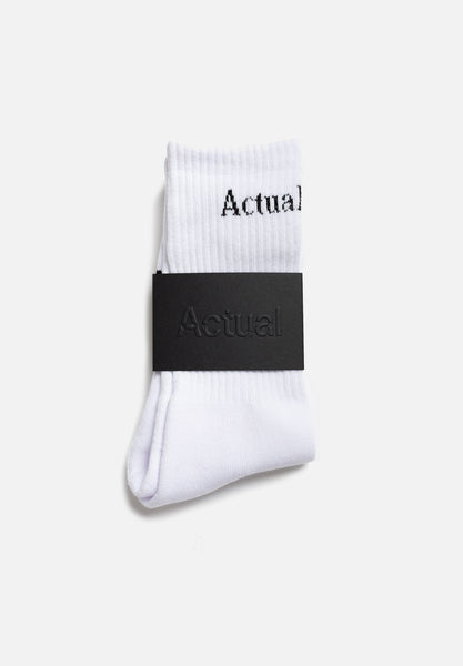 Socks — White-Actual Source-Average