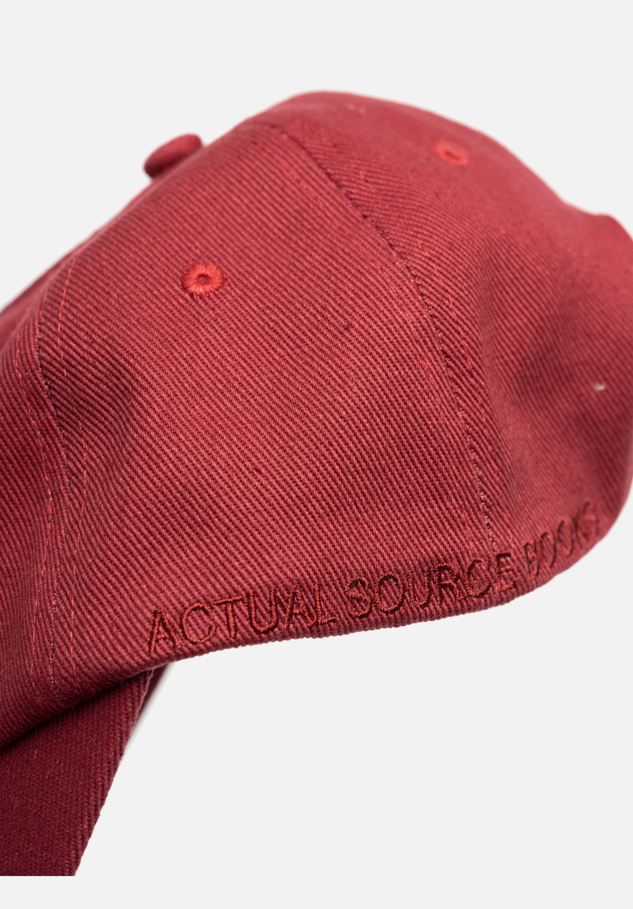 Heavy Twill Hat — Maroon-Actual Source-Average