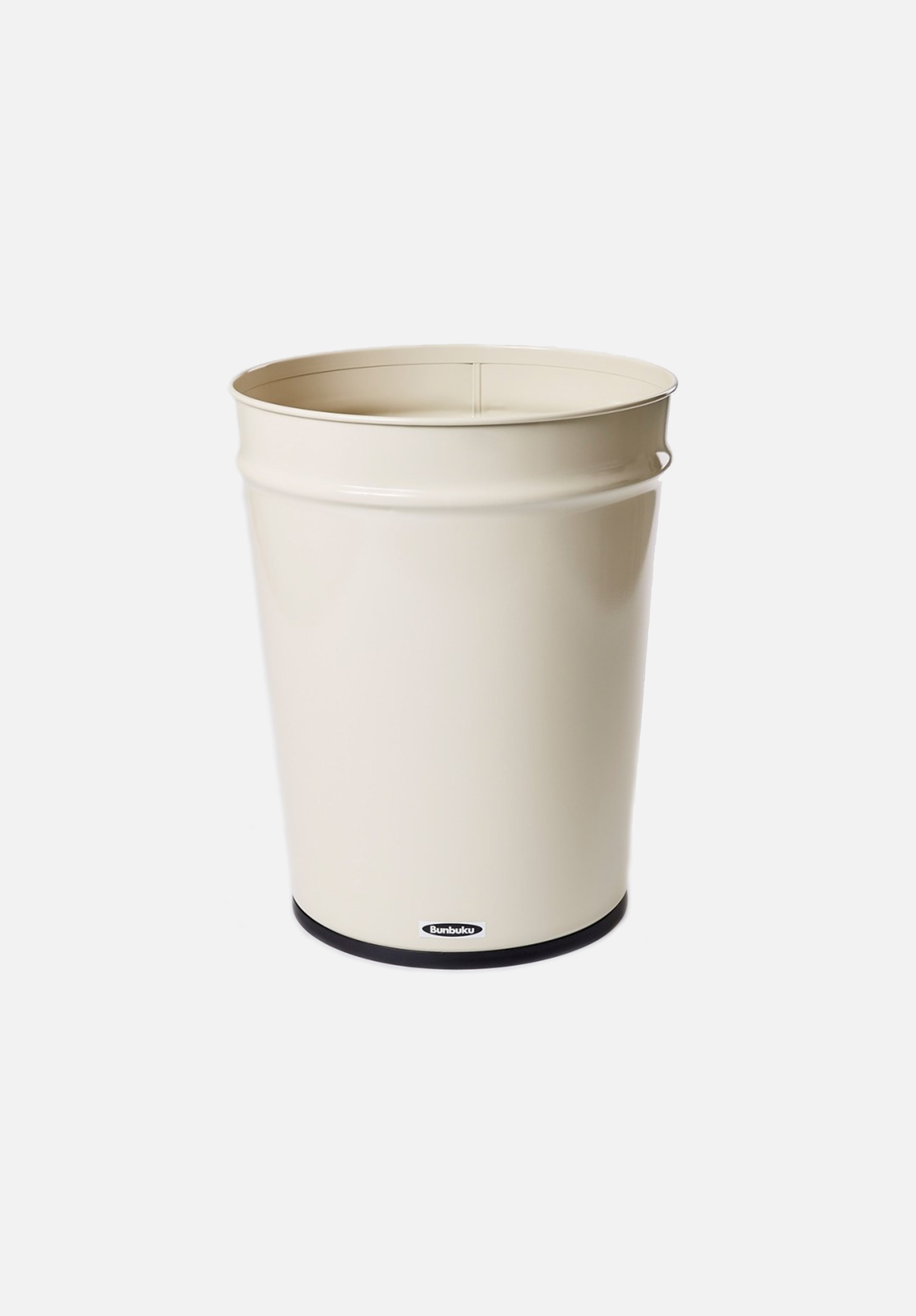 Large Waste Basket — Ivory