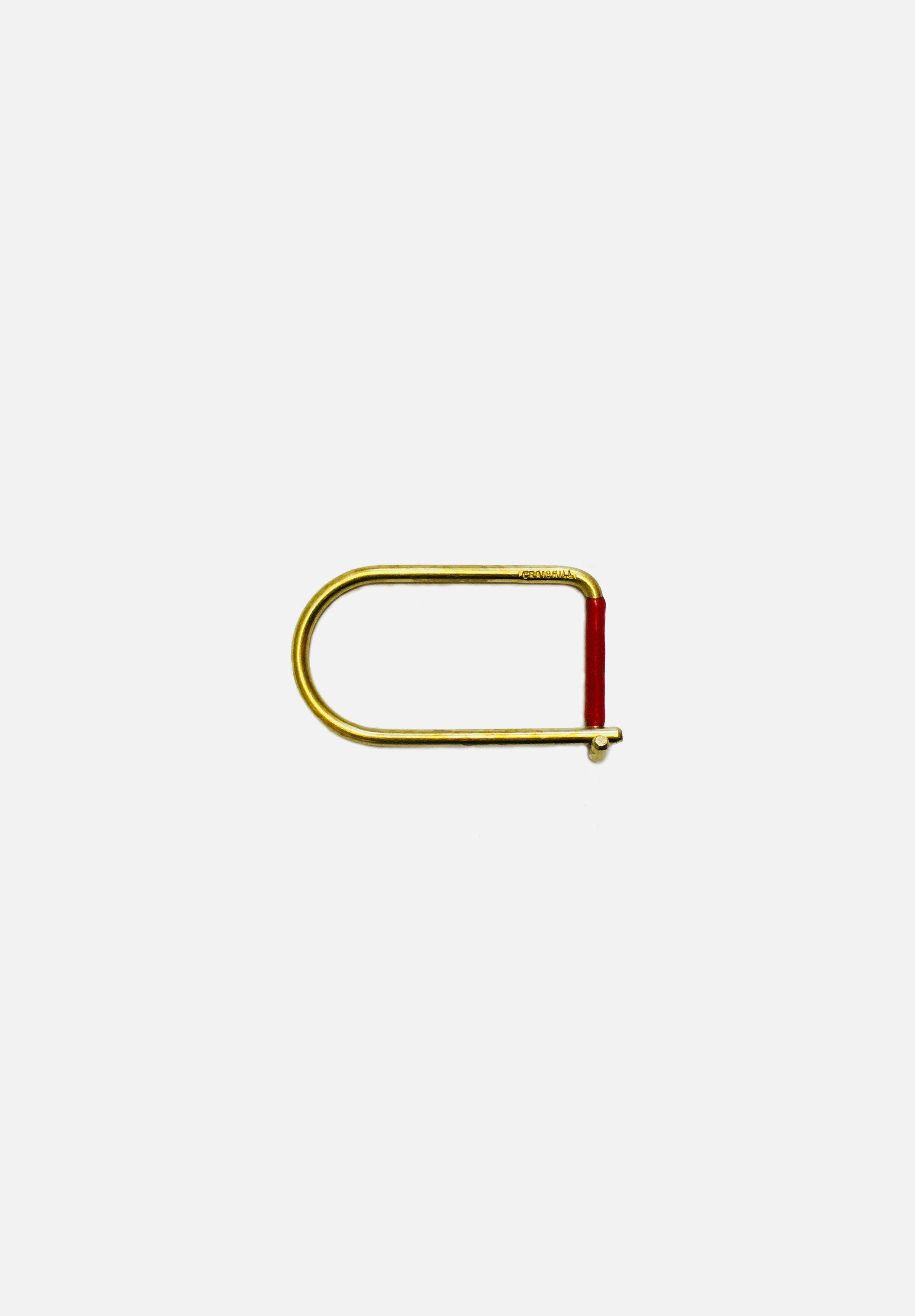 Wilson Keyring Brass Enameled-Craighill-Red-Average