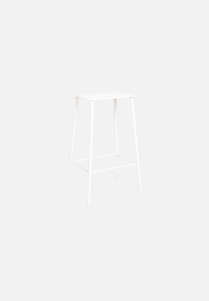 Adam Bar/Counter Stool — Mono White-Toke Lauridsen-Frama-Counter Height-Average