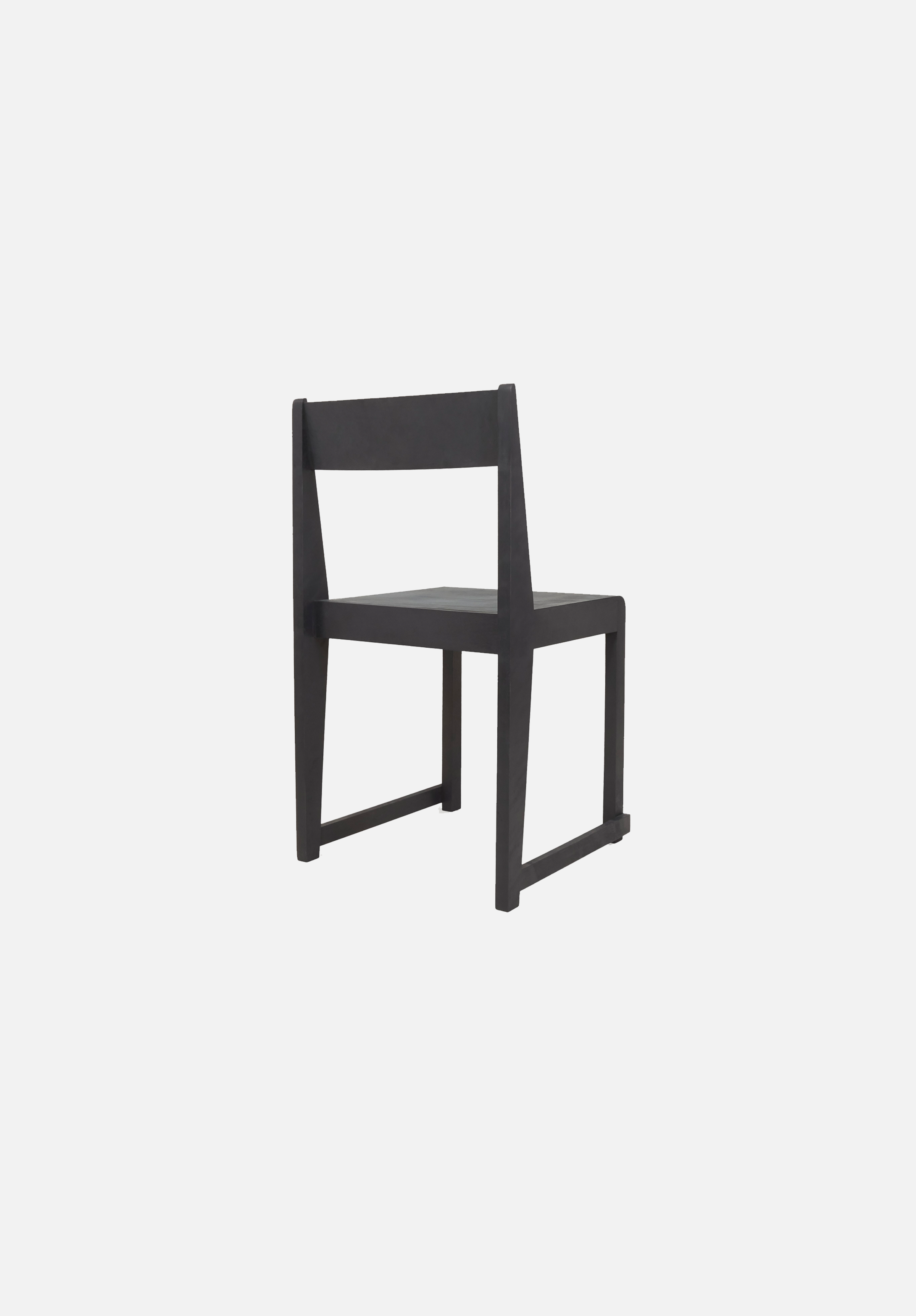 Chair 01 — Black, Leather Seat