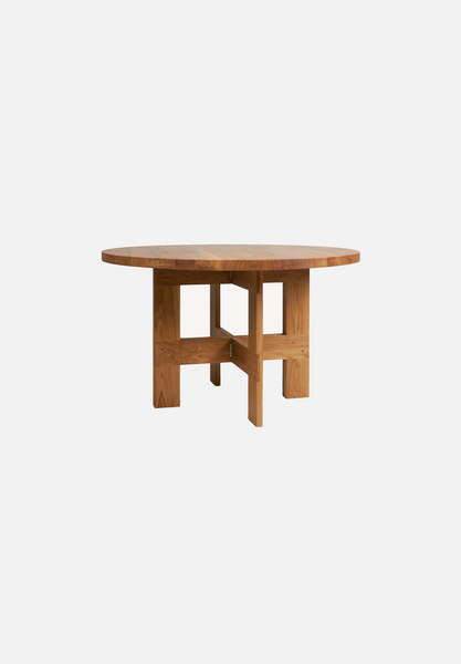 "Farmhouse Table — Round-Frama-130cm / 47""-Average"