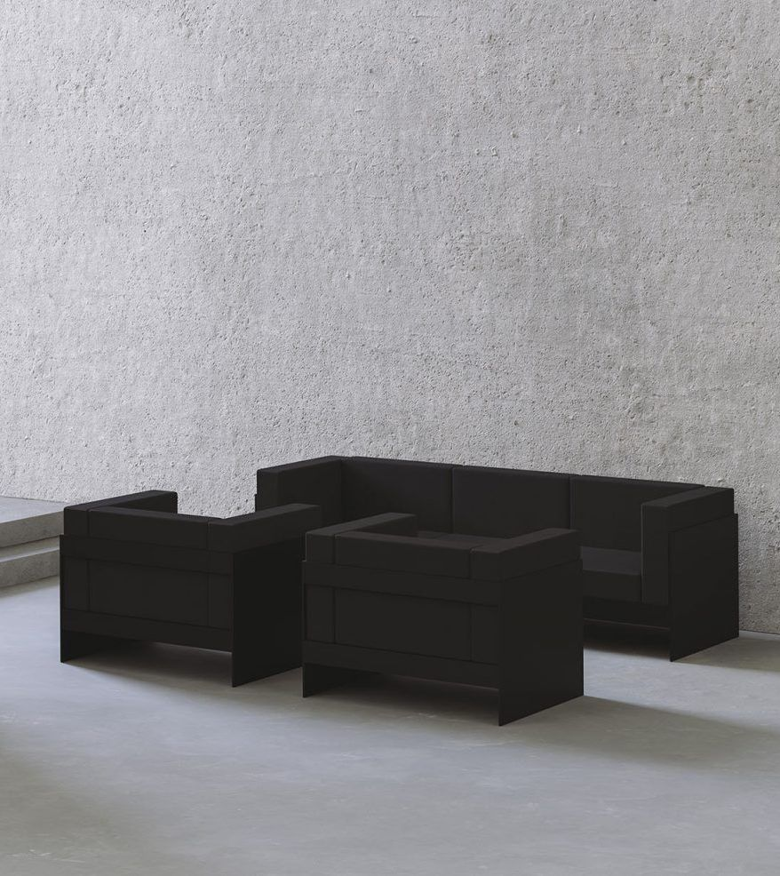 Standard Sofa — Black, Two Seater