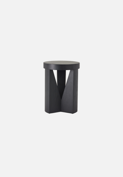 MC20 Cugino Stool/Table — Oak, Stained Black-Konstantin Grcic-Mattiazzi-AVG