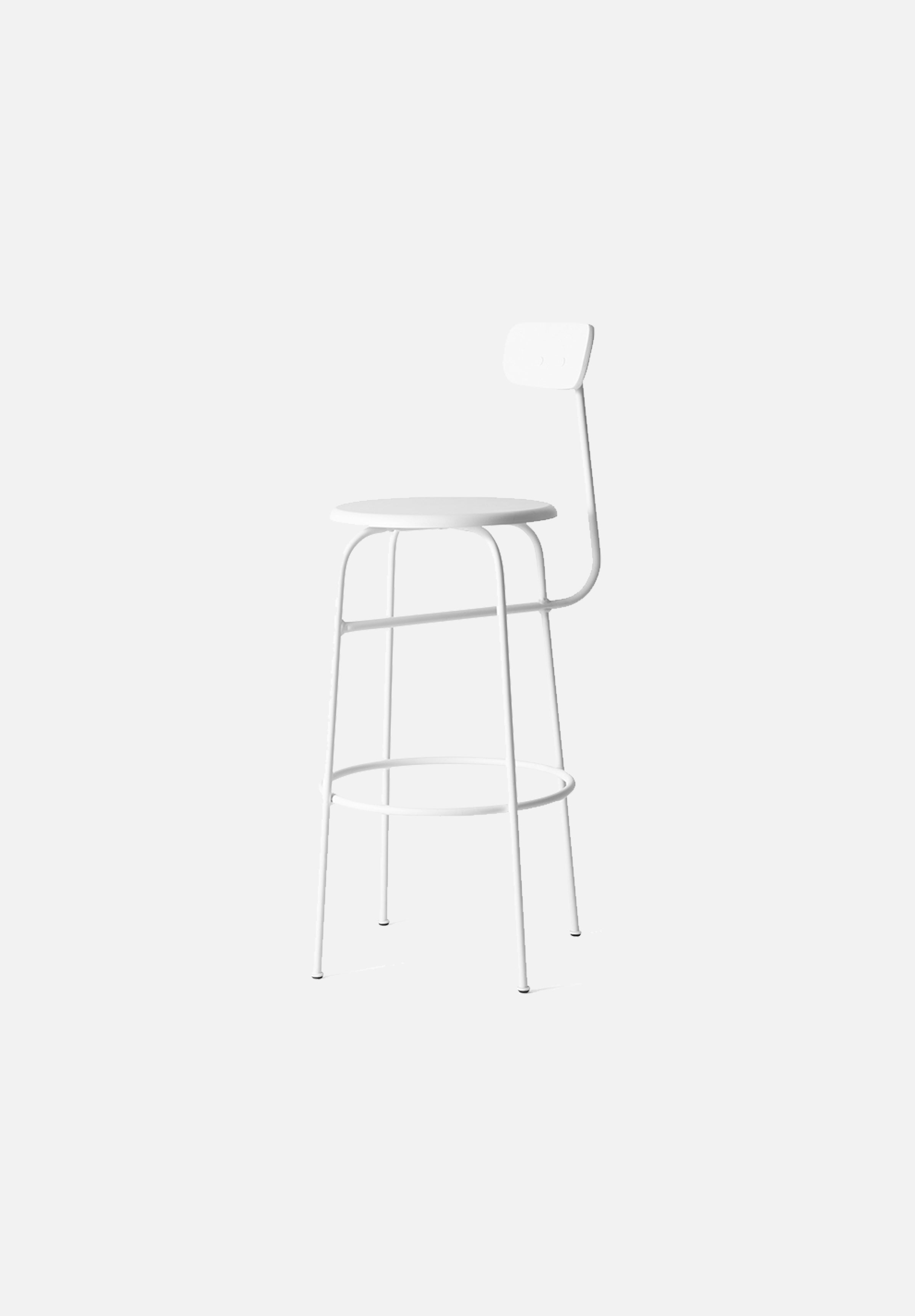 Afteroom Bar/Counter Chair — White