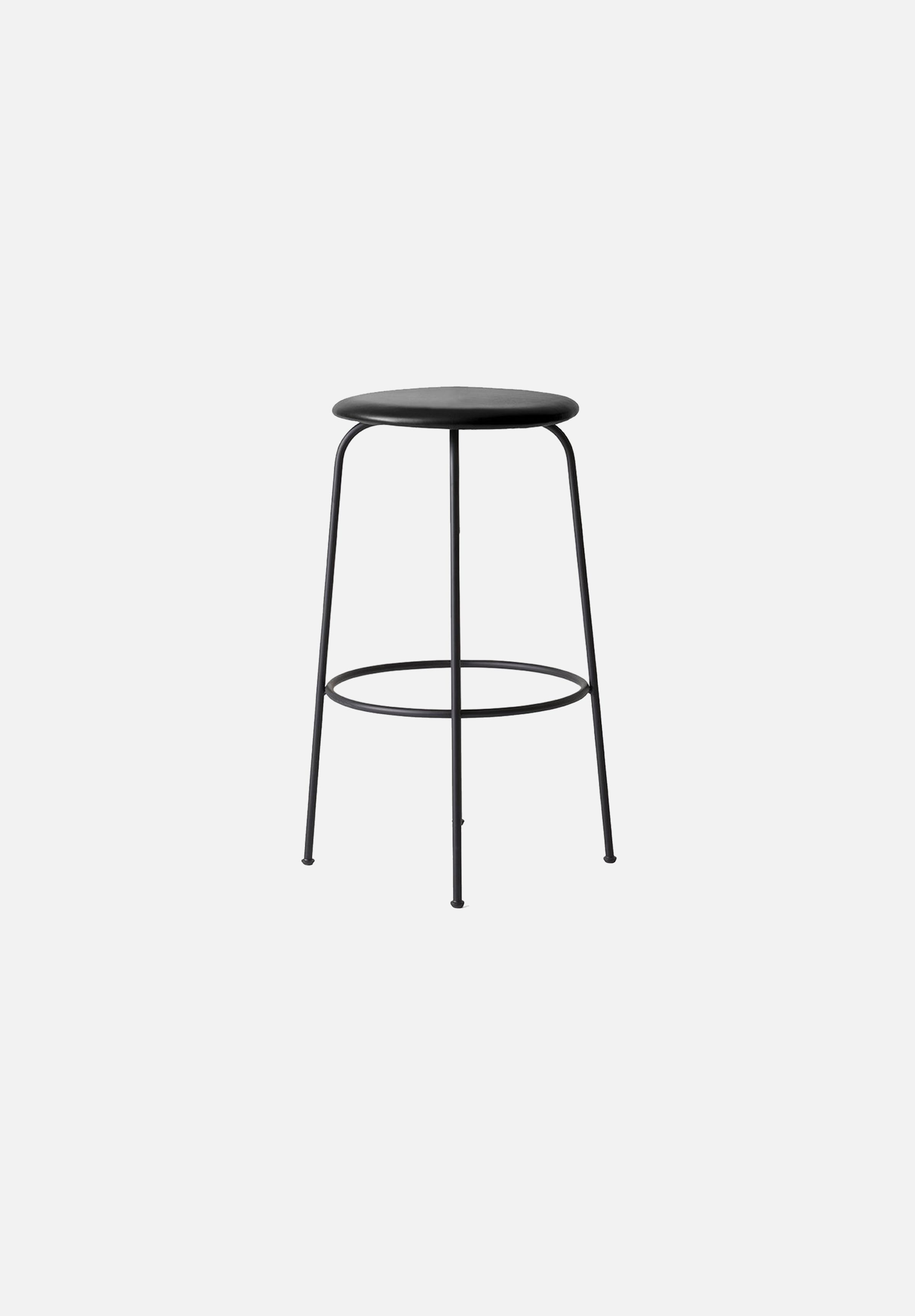 Afteroom Counter/Bar Stool-Afteroom-Menu-Black Leather-Bar-Average