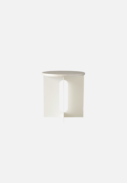 Androgyne Side Table — Ivory Marble