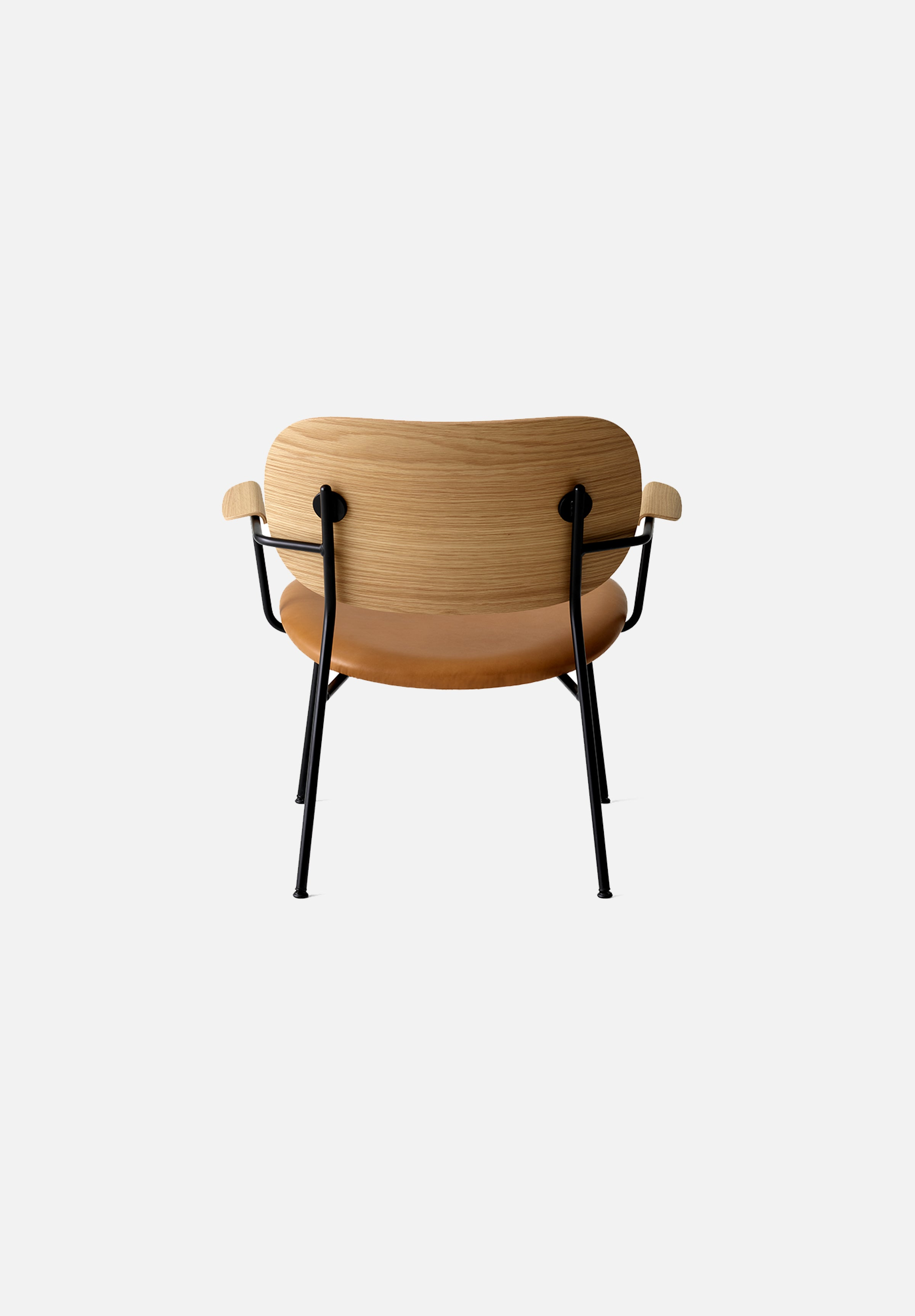 Co-Chair — Lounge-Norm Architects-Menu-Natural Oak Base / Cognac Leather-Average