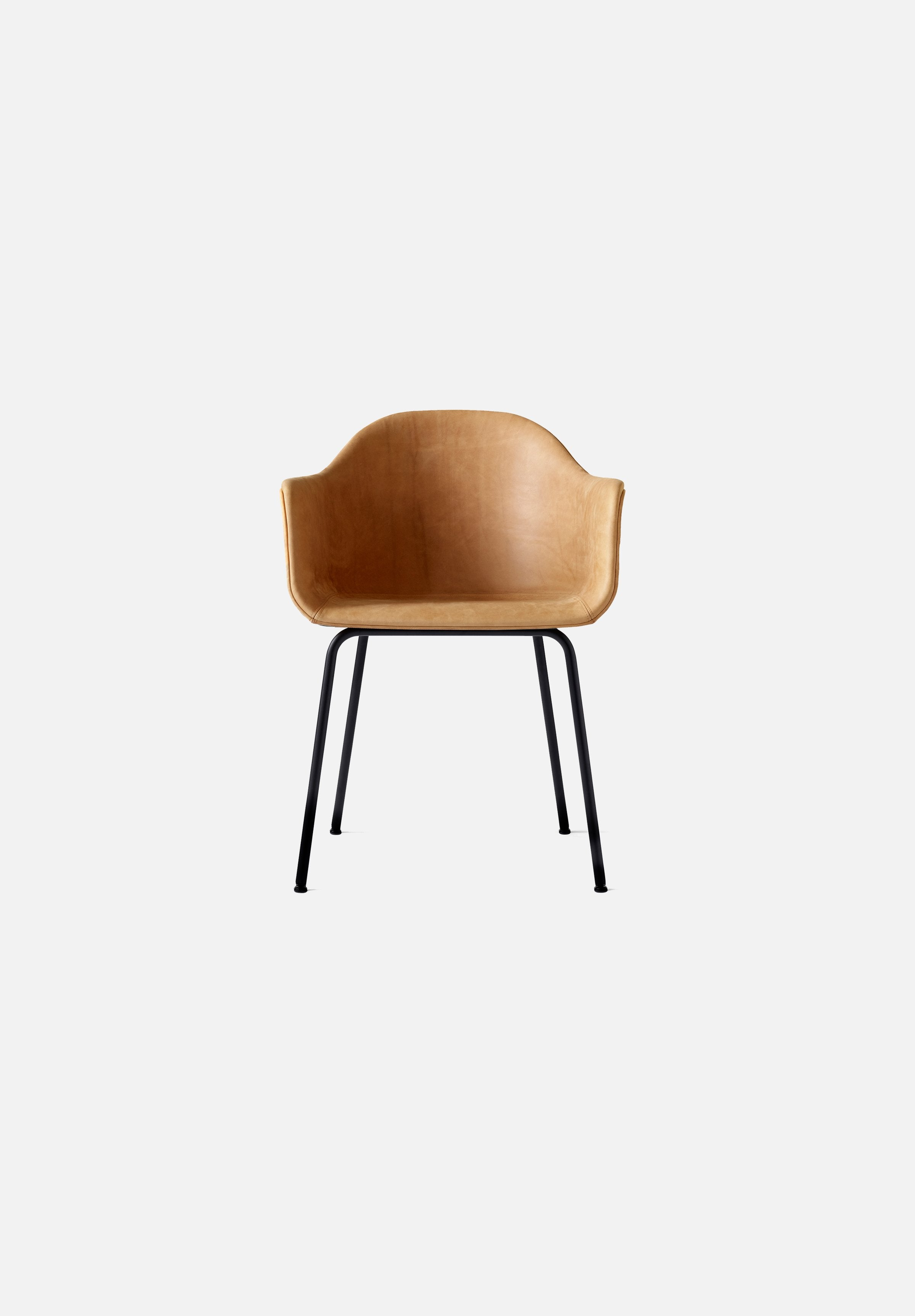 Harbour Chair - Steel Base-Norm Architects-Menu-cognac_leather-Black Steel-danish-interior-furniture-denmark-Average-design-toronto-canada