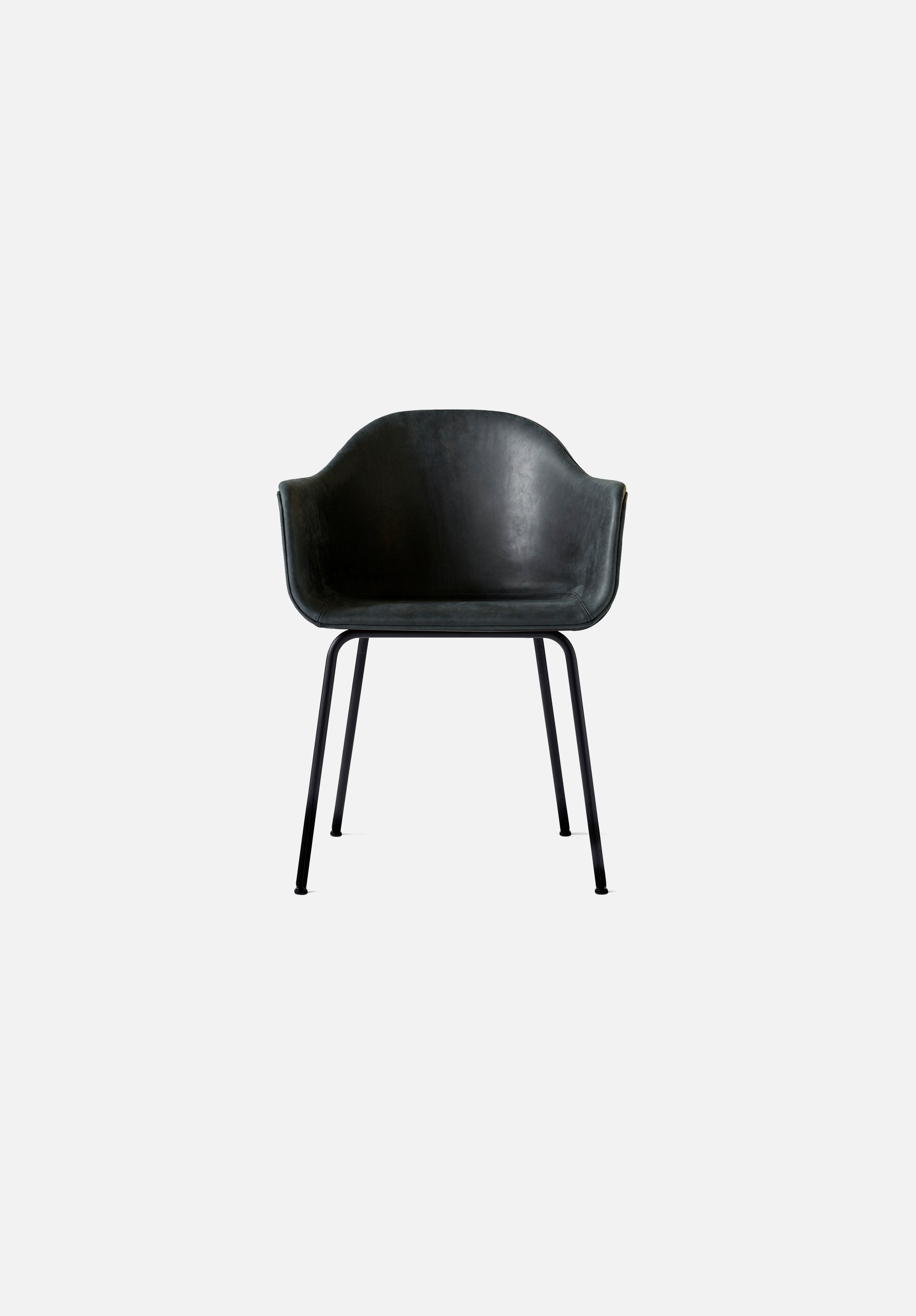 Harbour Chair - Steel Base-Norm Architects-Menu-black_leather-Black Steel-danish-interior-furniture-denmark-Average-design-toronto-canada