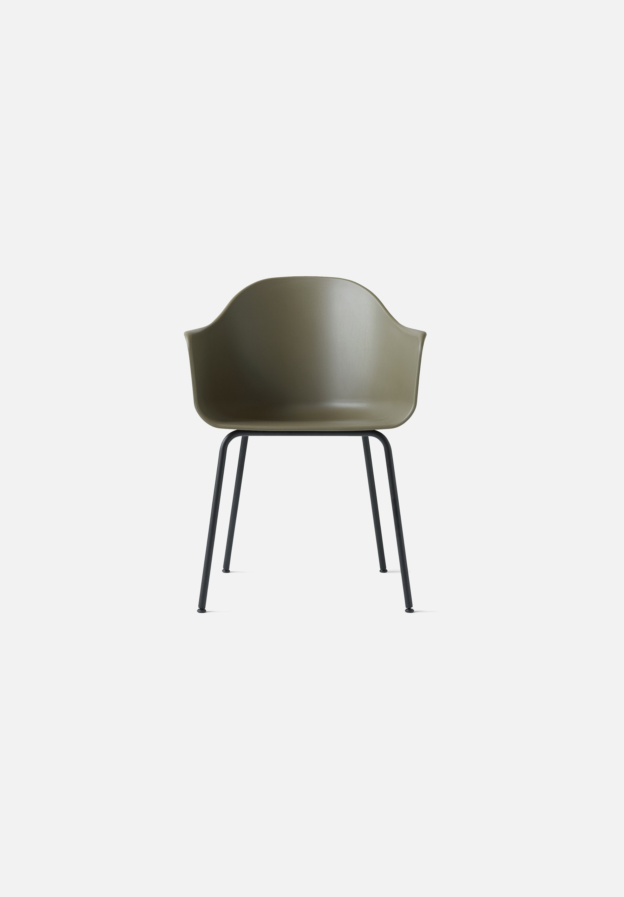 Harbour Chair — Steel Base-Norm Architects-Menu-Olive-Black Steel-Average