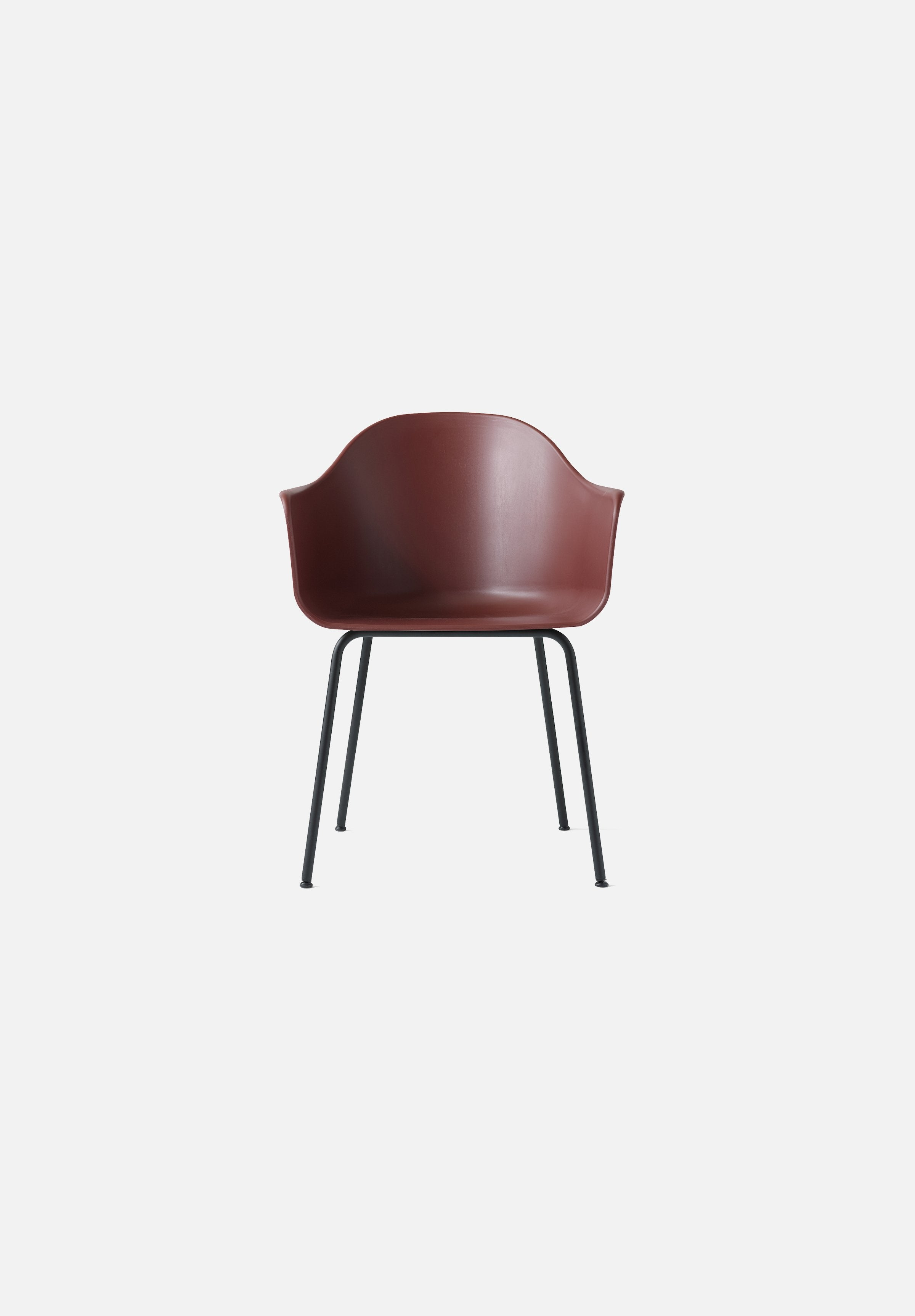 Harbour Chair - Steel Base-Norm Architects-Menu-burned_red-Black Steel-danish-interior-furniture-denmark-Average-design-toronto-canada