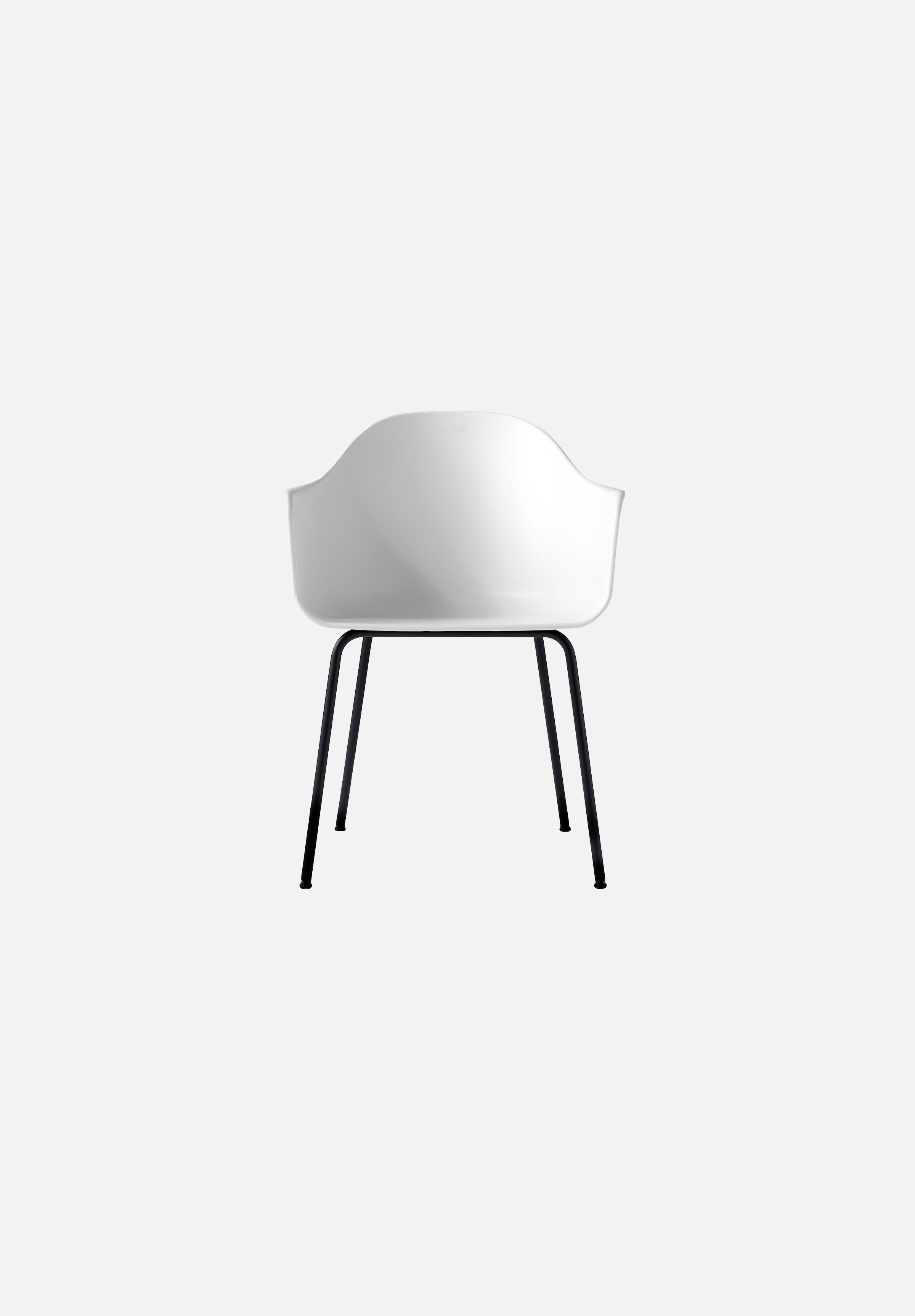 Harbour Chair - Steel Base-Norm Architects-Menu-white-Black Steel-danish-interior-furniture-denmark-Average-design-toronto-canada