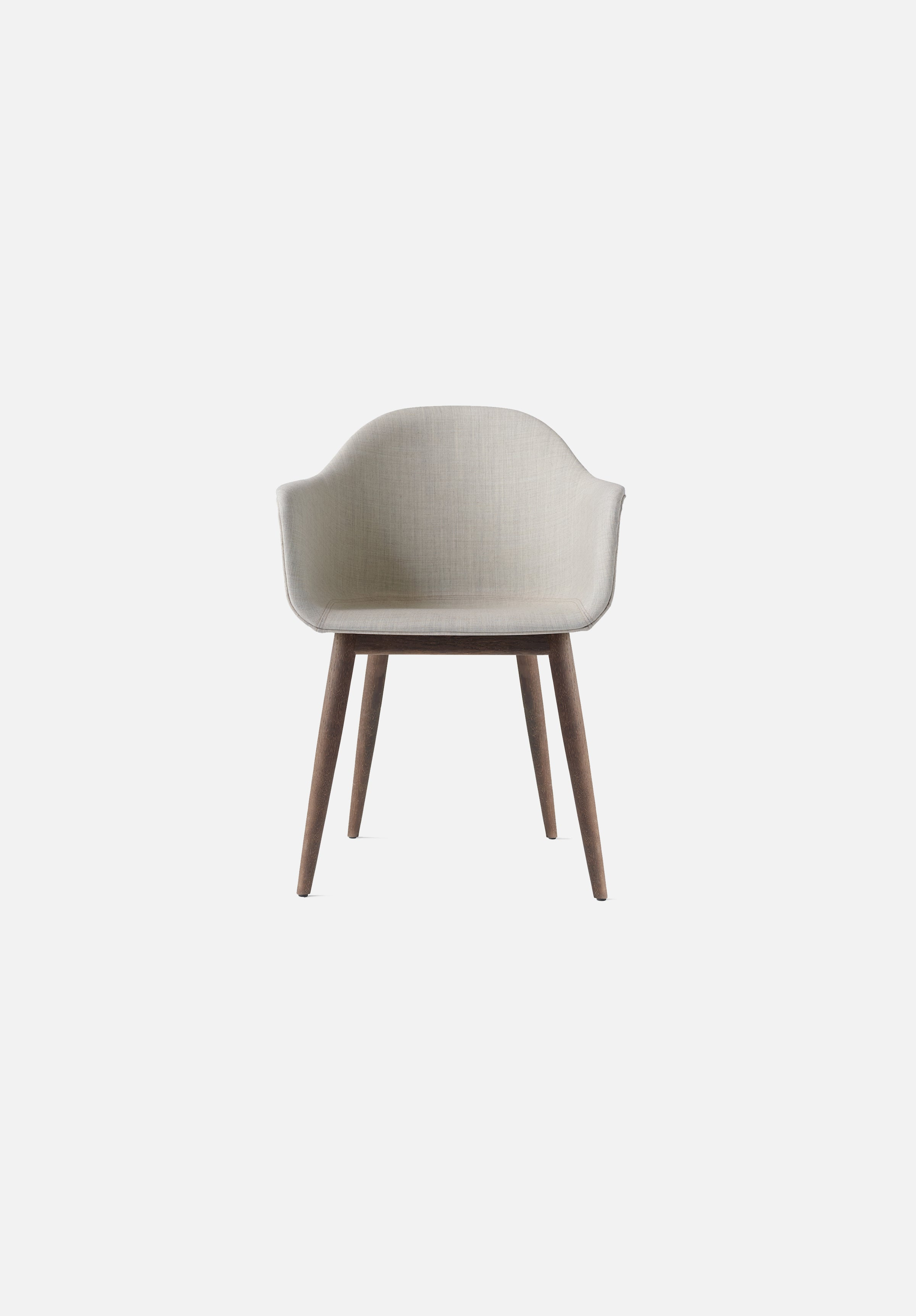 Harbour Chair — Oak Base-Norm Architects-Menu-Remix 2 Upholstery-Dark Oak-Average