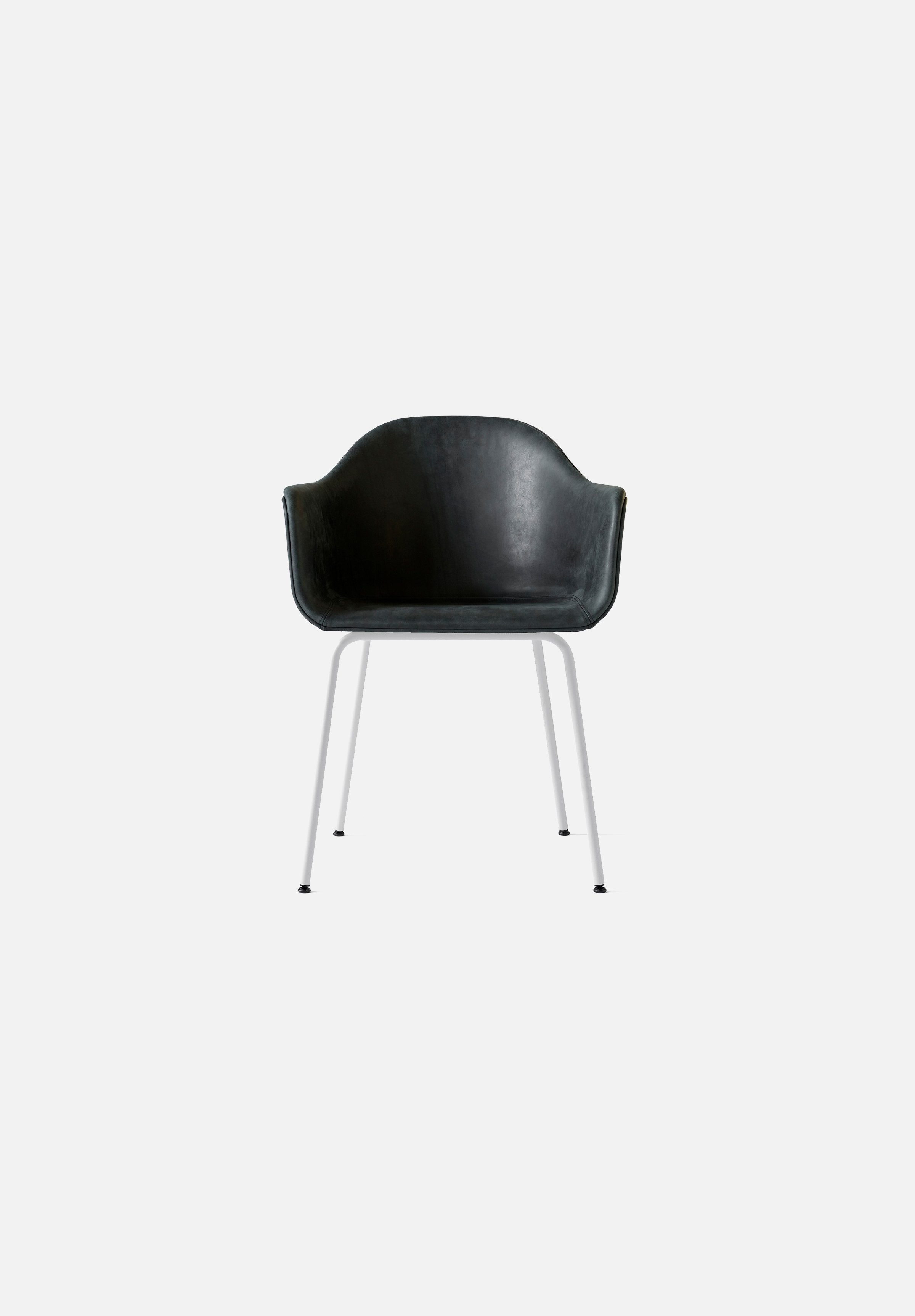 Harbour Chair - Steel Base-Norm Architects-Menu-black_leather-White Steel-danish-interior-furniture-denmark-Average-design-toronto-canada