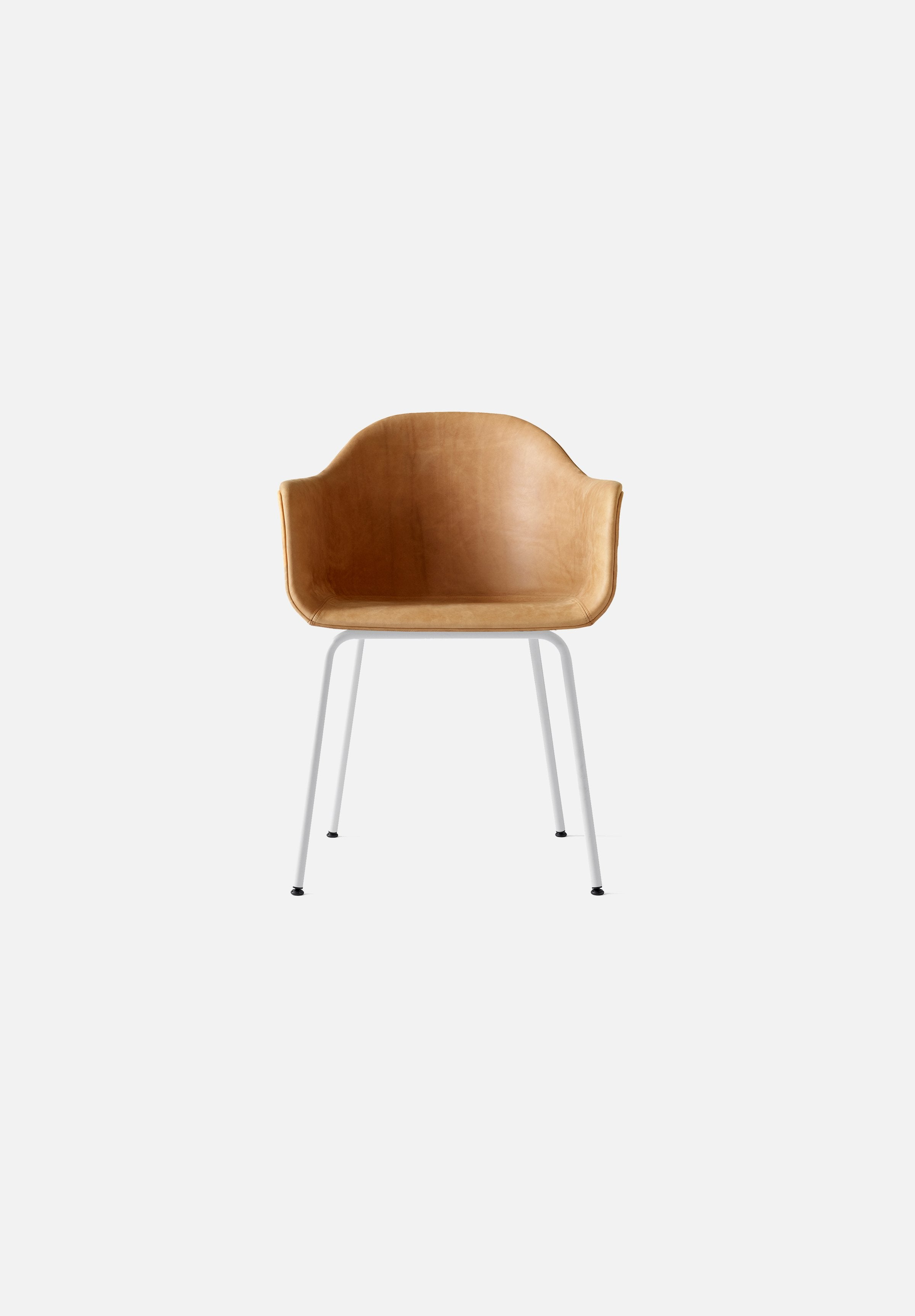 Harbour Chair - Steel Base-Norm Architects-Menu-cognac_leather-White Steel-danish-interior-furniture-denmark-Average-design-toronto-canada