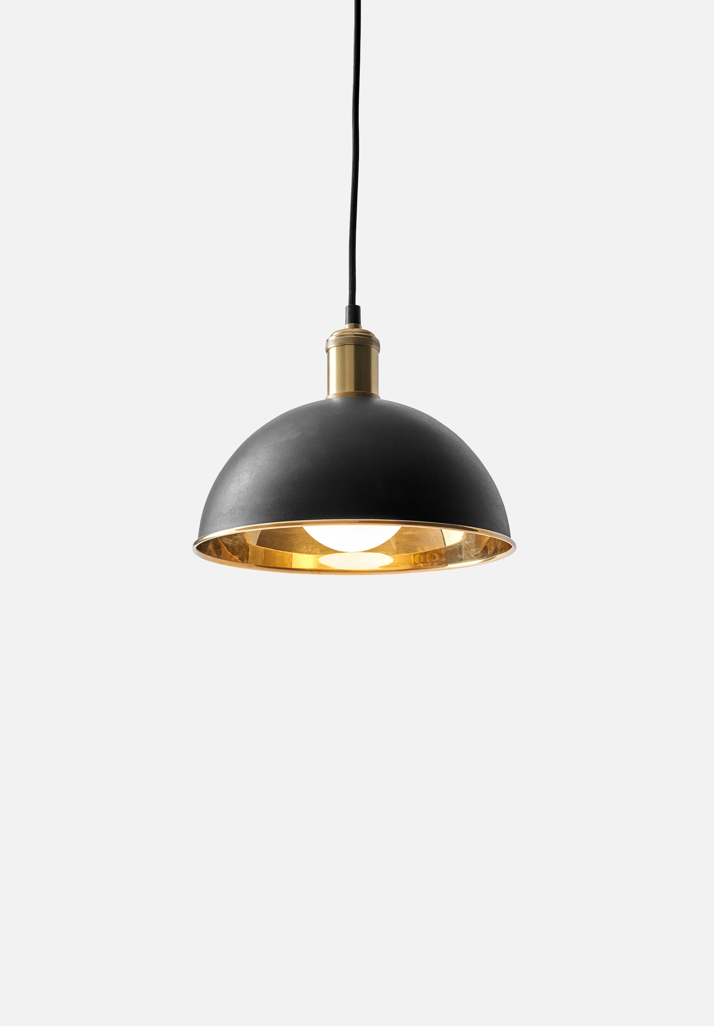Hubert Pendant — 24cm-Søren Rose-Menu-Black/Brass-danish-interior-furniture-denmark-Average-design-toronto-canada
