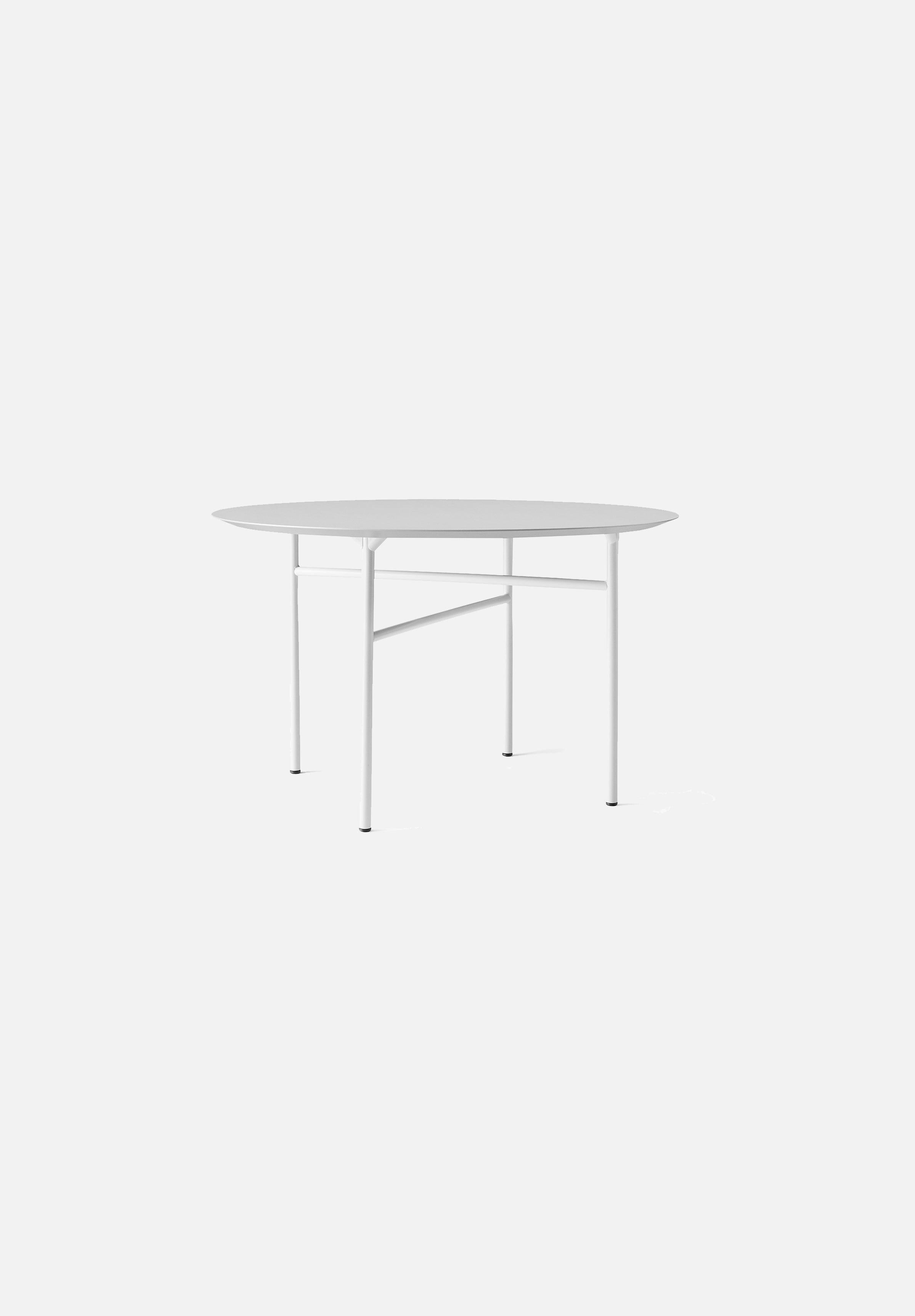 "Snaregade Dining Table — Round-Norm Architects-Menu-47""-Light Grey-Linoleum-danish-interior-furniture-denmark-Average-design-toronto-canada"