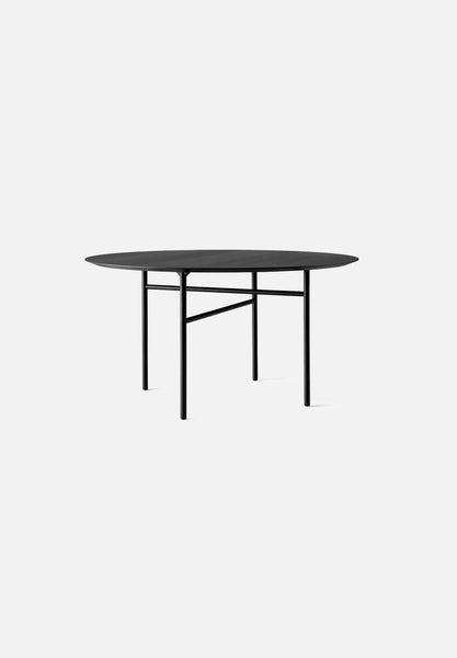 "Snaregade — Round Tables-Norm Architects-Menu-47""-Black-Oak Veneer-Average"